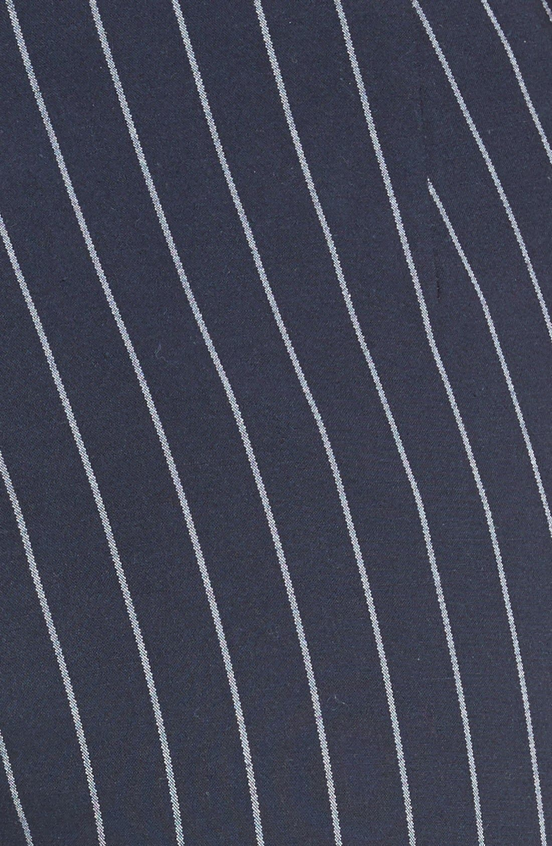 Simone Pinstripe Pants,                             Alternate thumbnail 6, color,                             Salute/ White