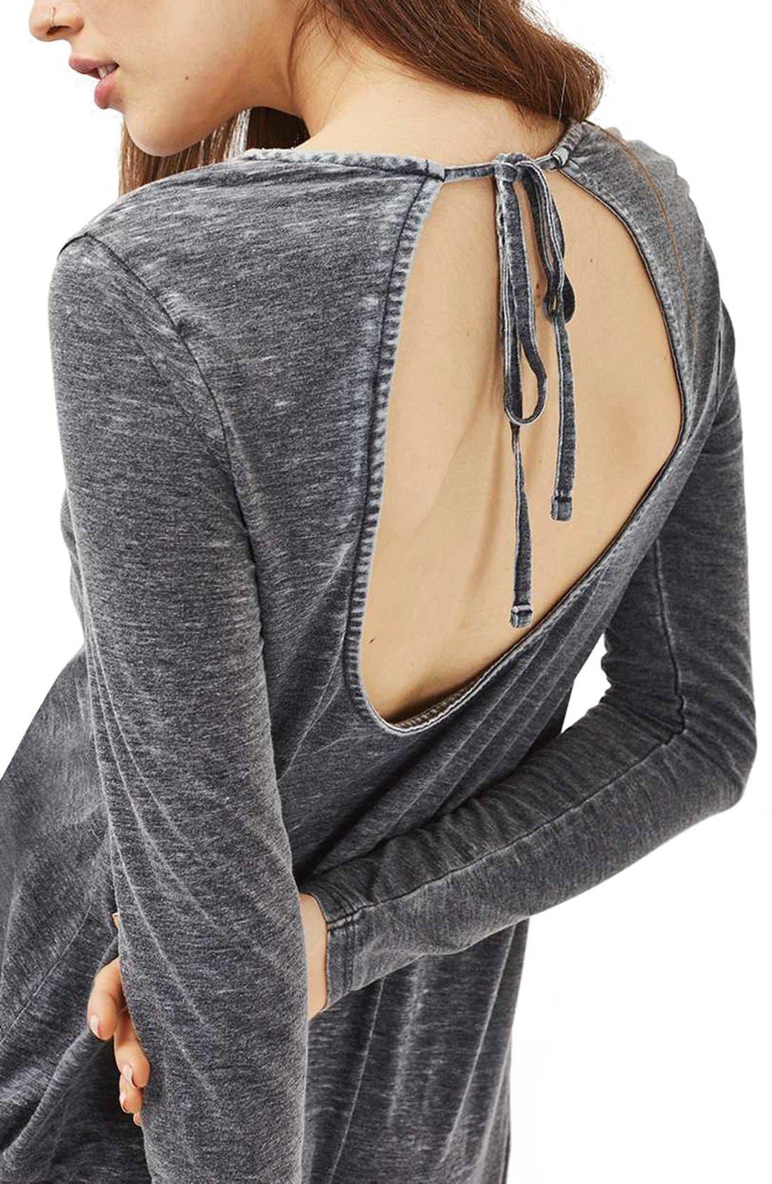 Alternate Image 5  - Topshop Open Back Tunic Dress