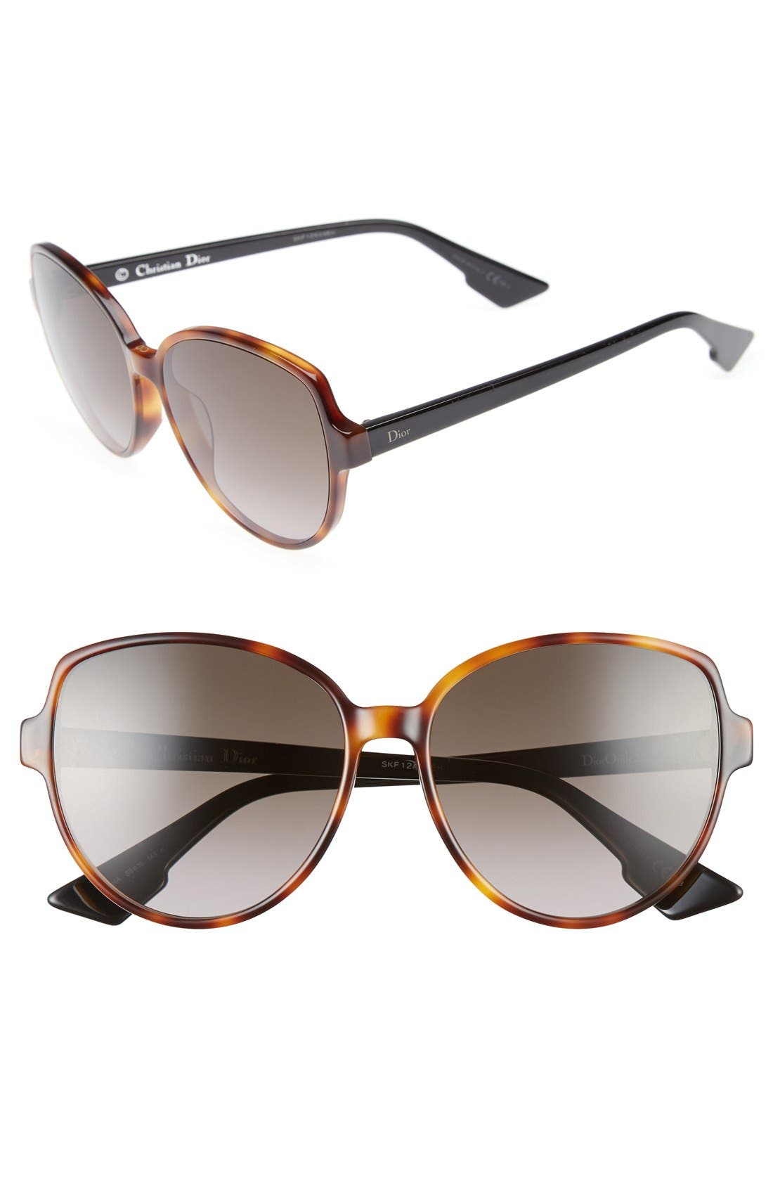 Onde 2 58mm Sunglasses,                         Main,                         color, Dark Havana/ Black