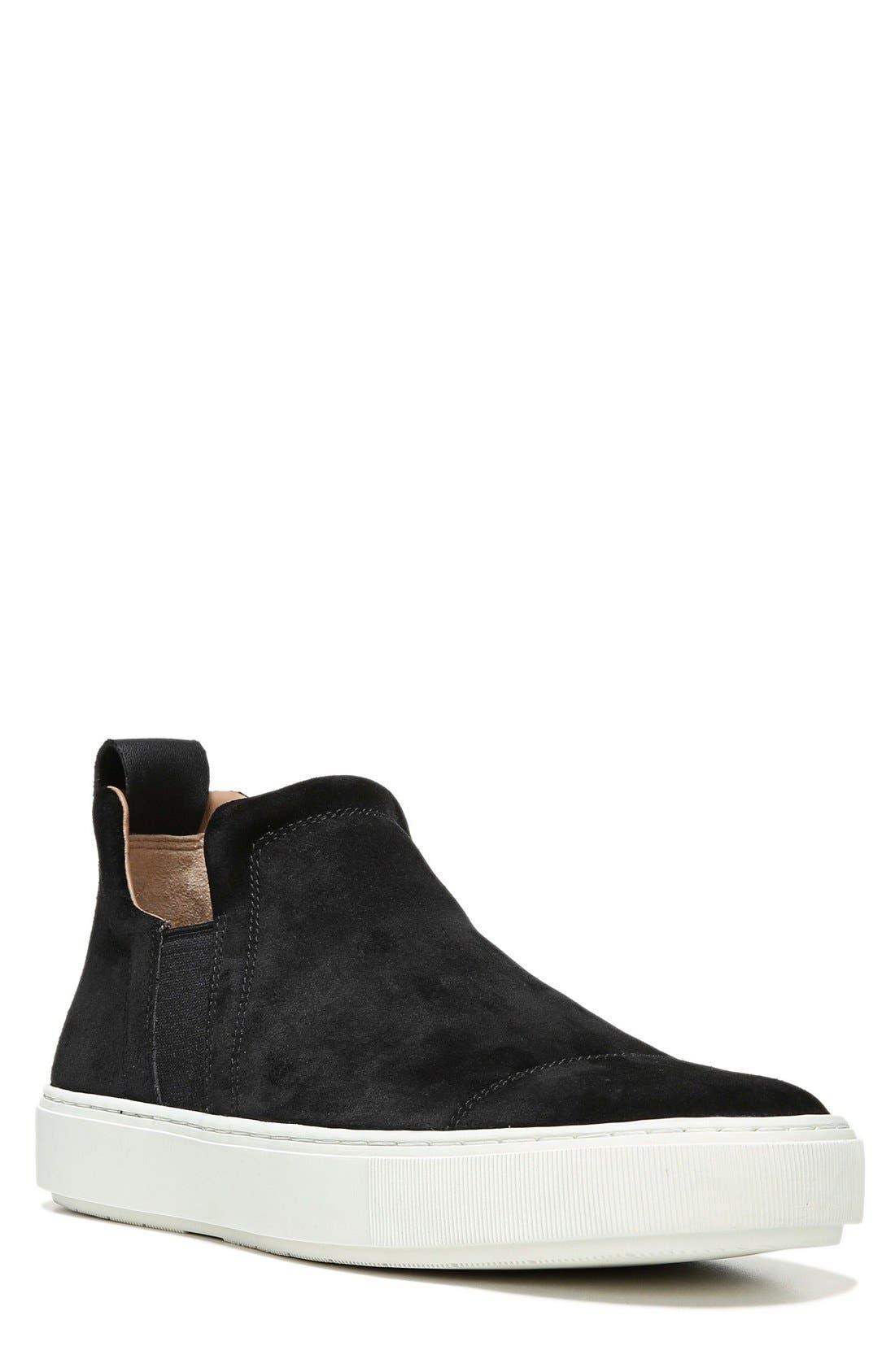 Lucio Slip-On Sneaker,                         Main,                         color, Black Suede