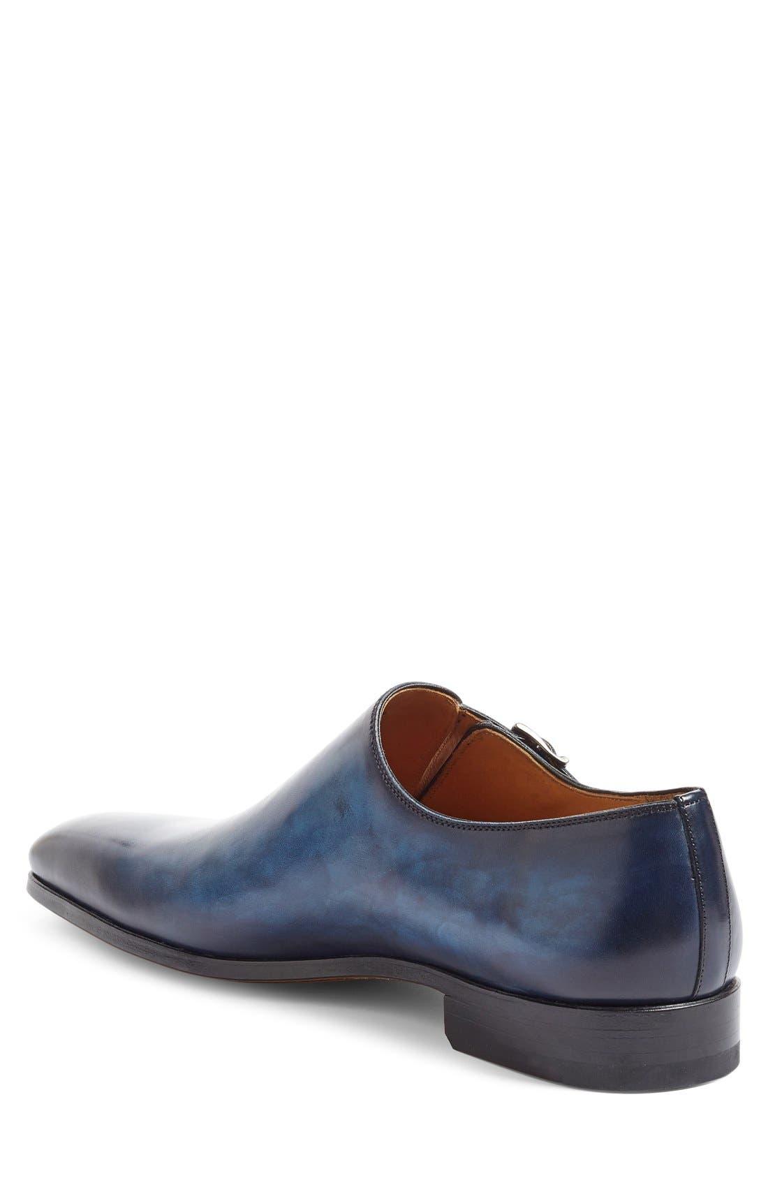 Beltran Monk Strap Shoe,                             Alternate thumbnail 2, color,                             Navy