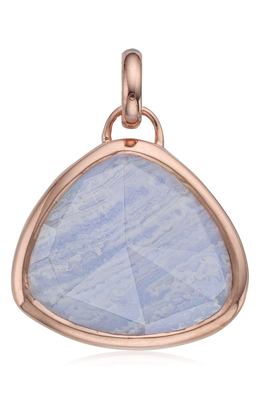Siren Semiprecious Stone Pendant,                             Main thumbnail 1, color,                             Rose Gold