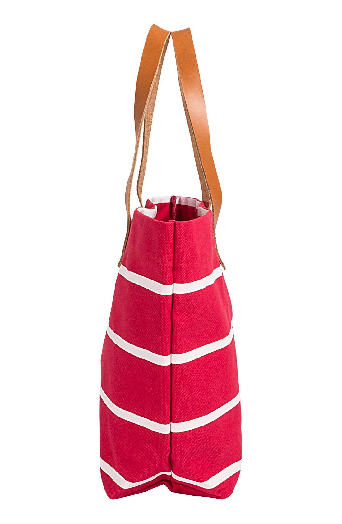 Alternate Image 3  - Cathy's Concepts Monogram Stripe Tote