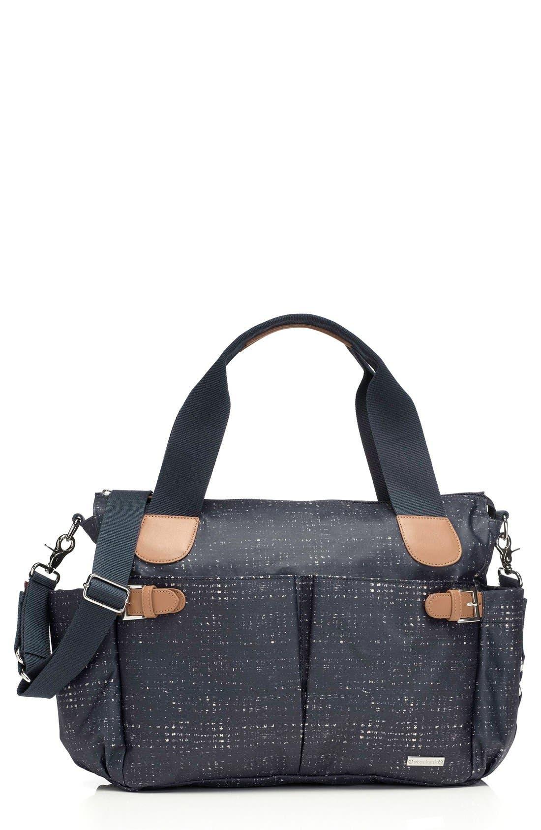 'Kay' Diaper Bag,                         Main,                         color, Crosshatch