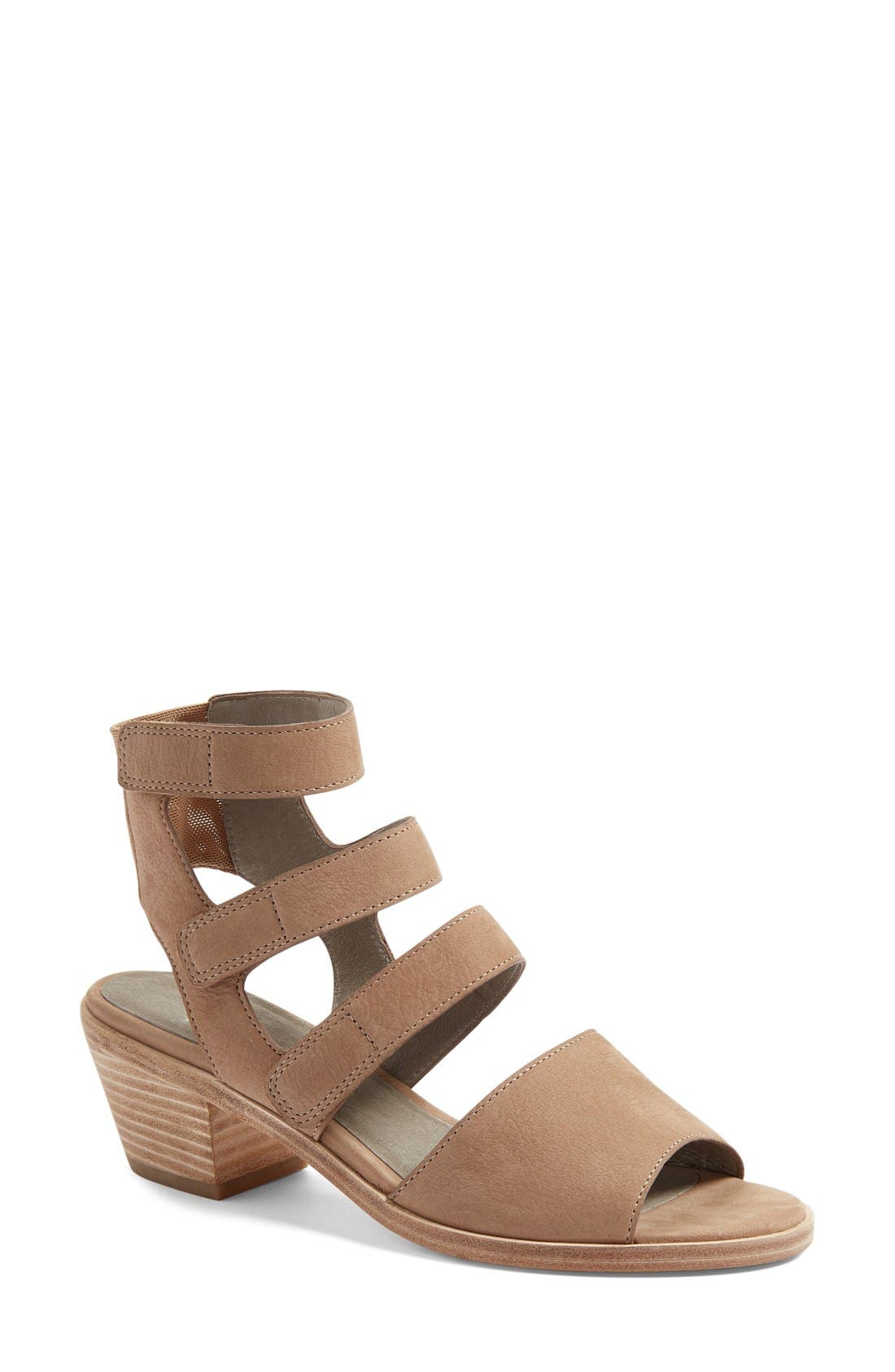 Vessey Strappy Sandal,                         Main,                         color, Earth Leather