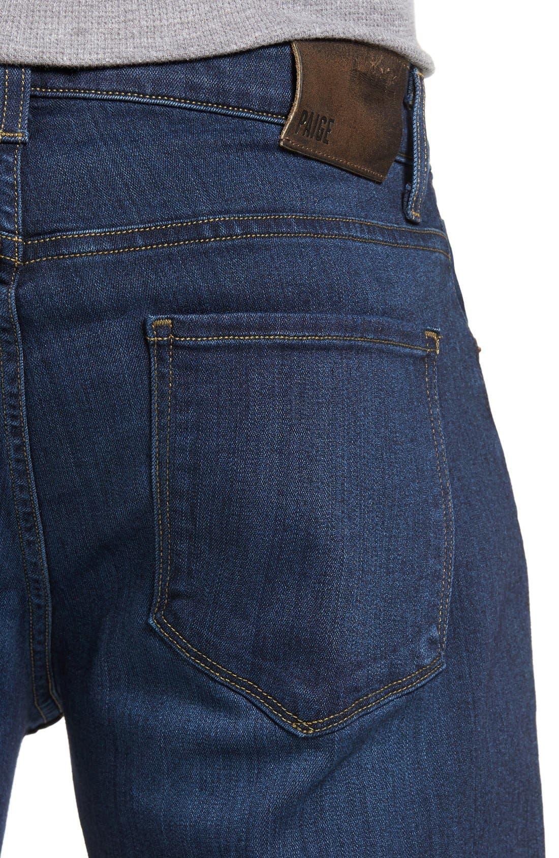 Alternate Image 4  - PAIGE Transcend - Federal Slim Straight Leg Jeans (Scott)