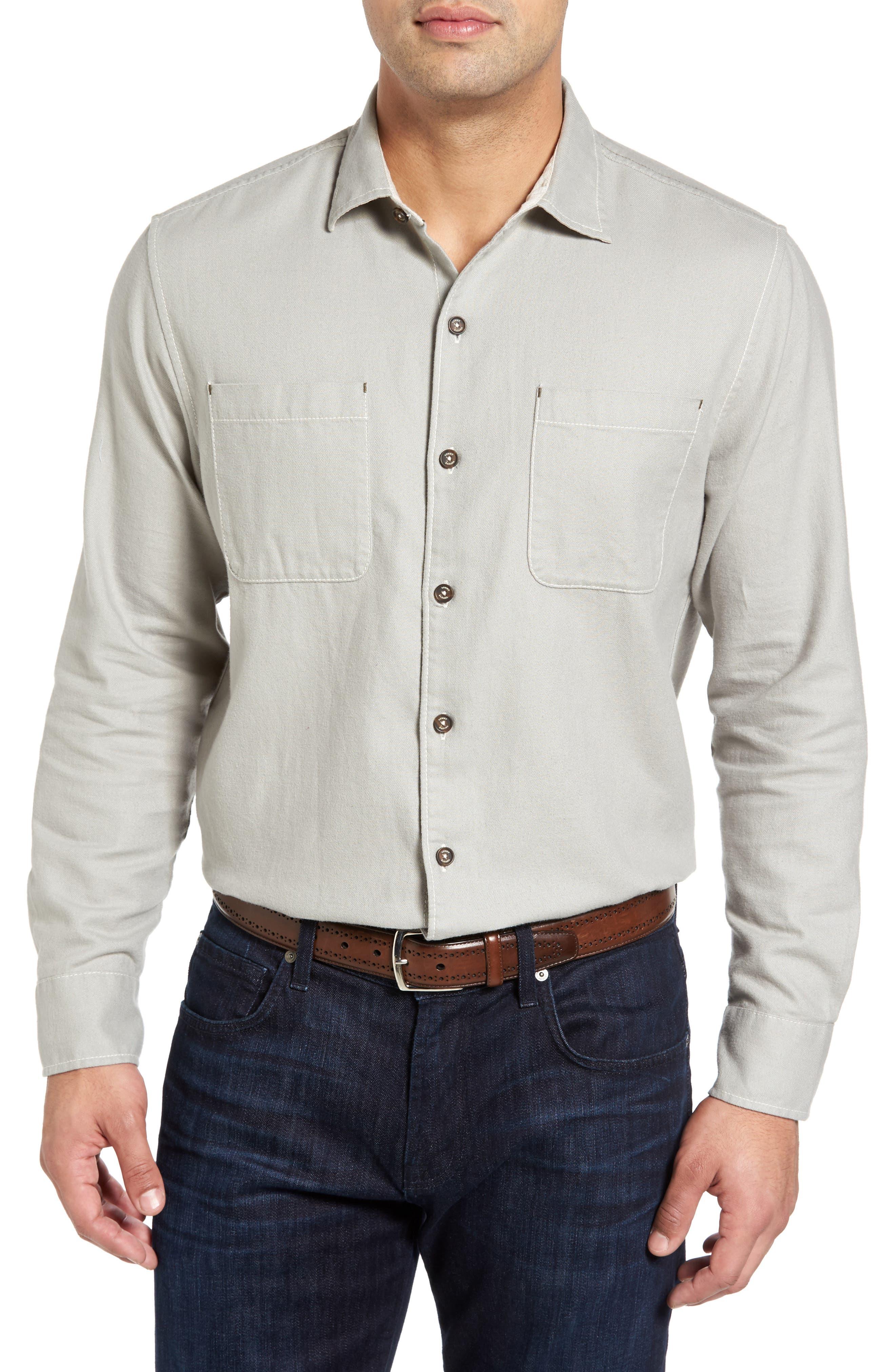 Tommy Bahama Sea Glass Original Fit Flannel Shirt (Big & Tall)
