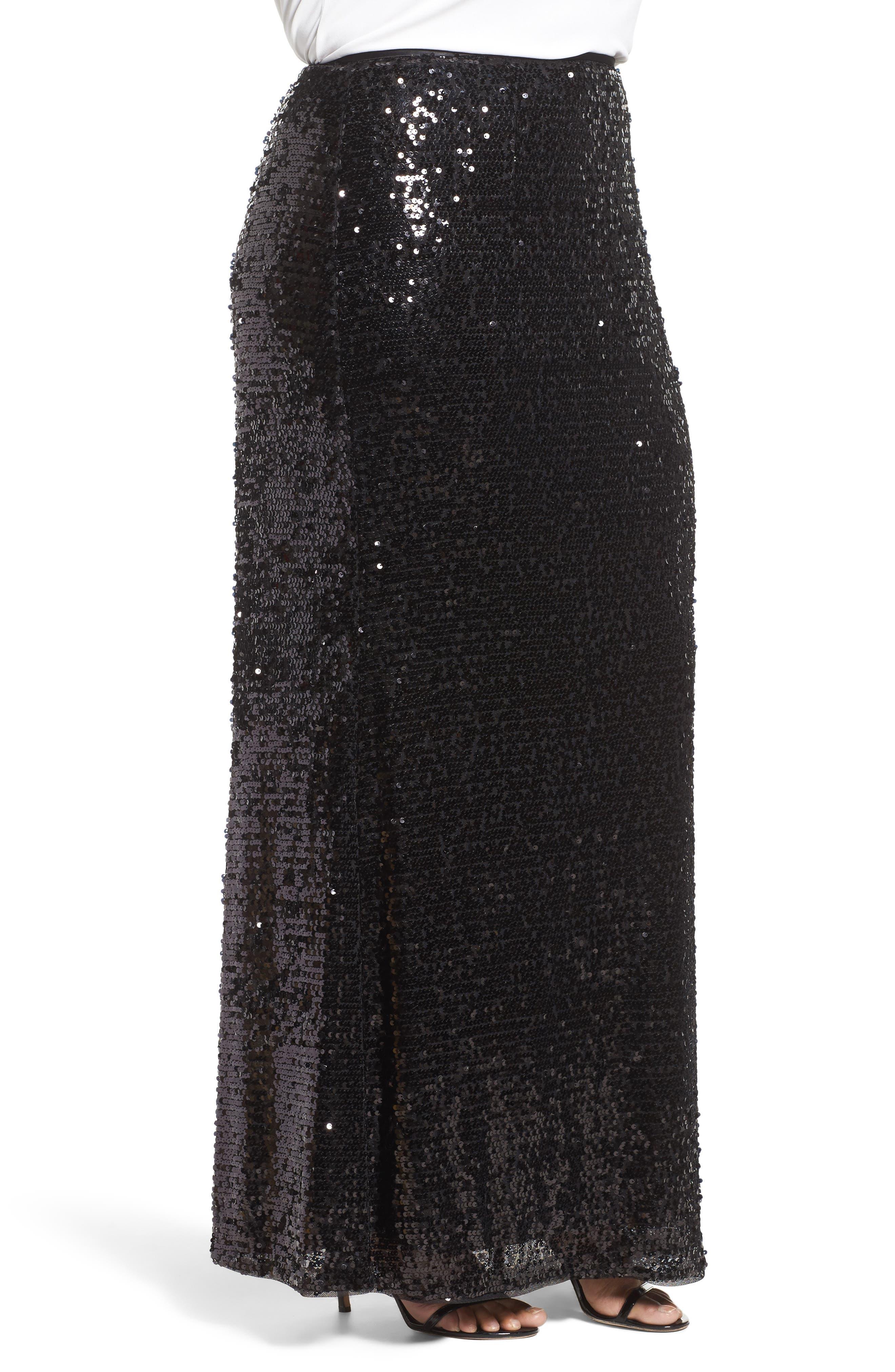 Alternate Image 3  - Adrianna Papell Sequin Skirt (Plus Size)