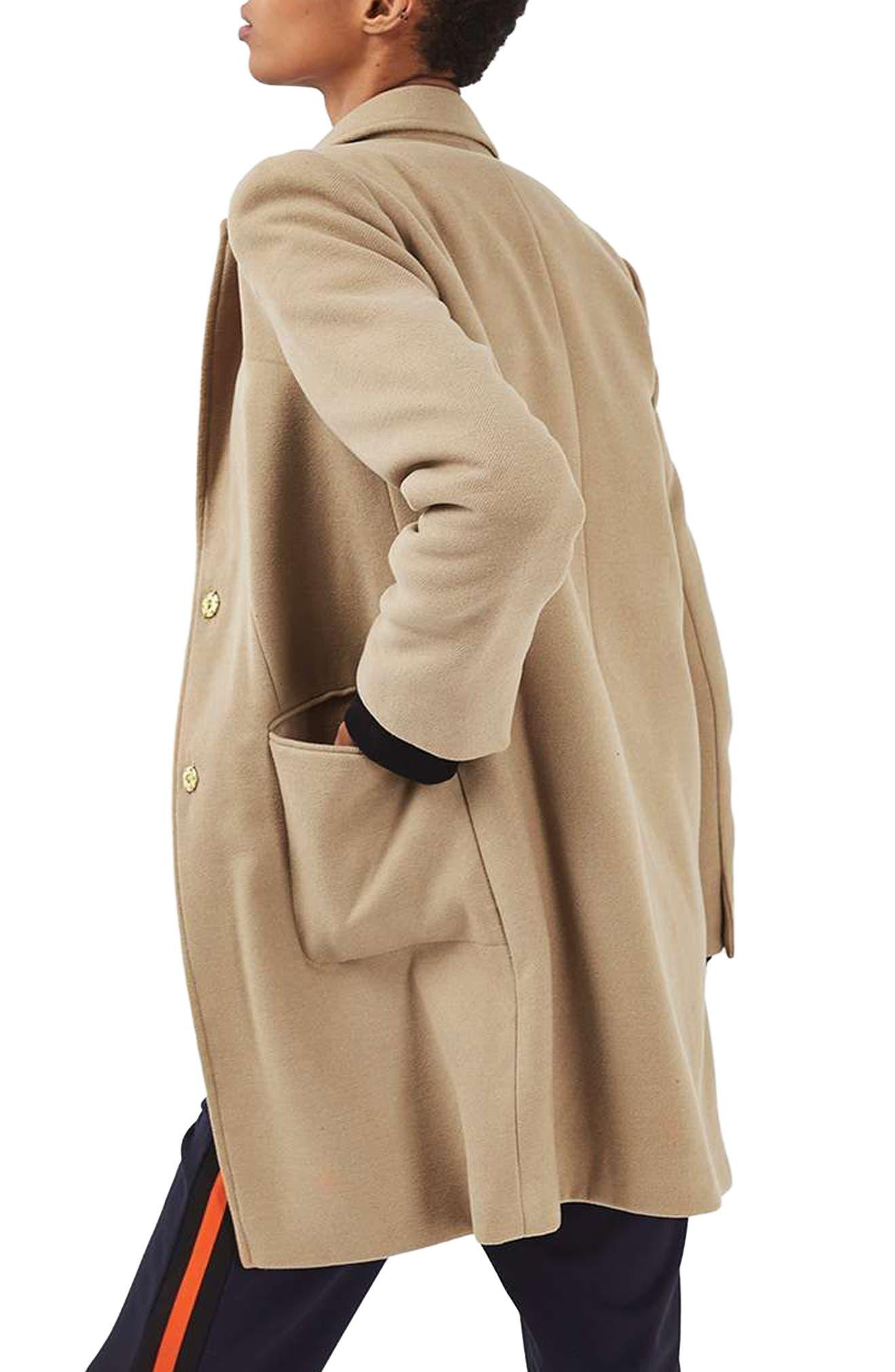 Alternate Image 3  - Topshop Meg Boyfriend Coat (Regular & Petite)