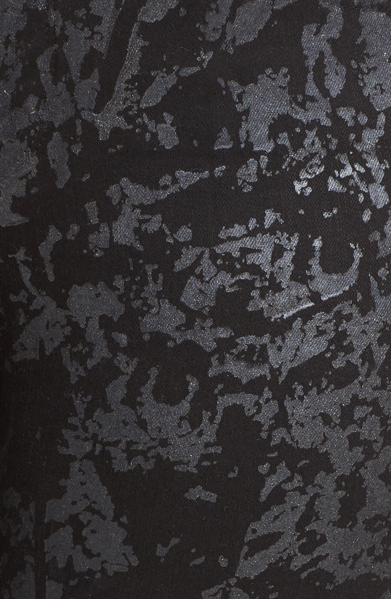 Alternate Image 5  - Melissa McCarthy Seven7 Stretch Foil Print Pencil Jeans (Plus Size)