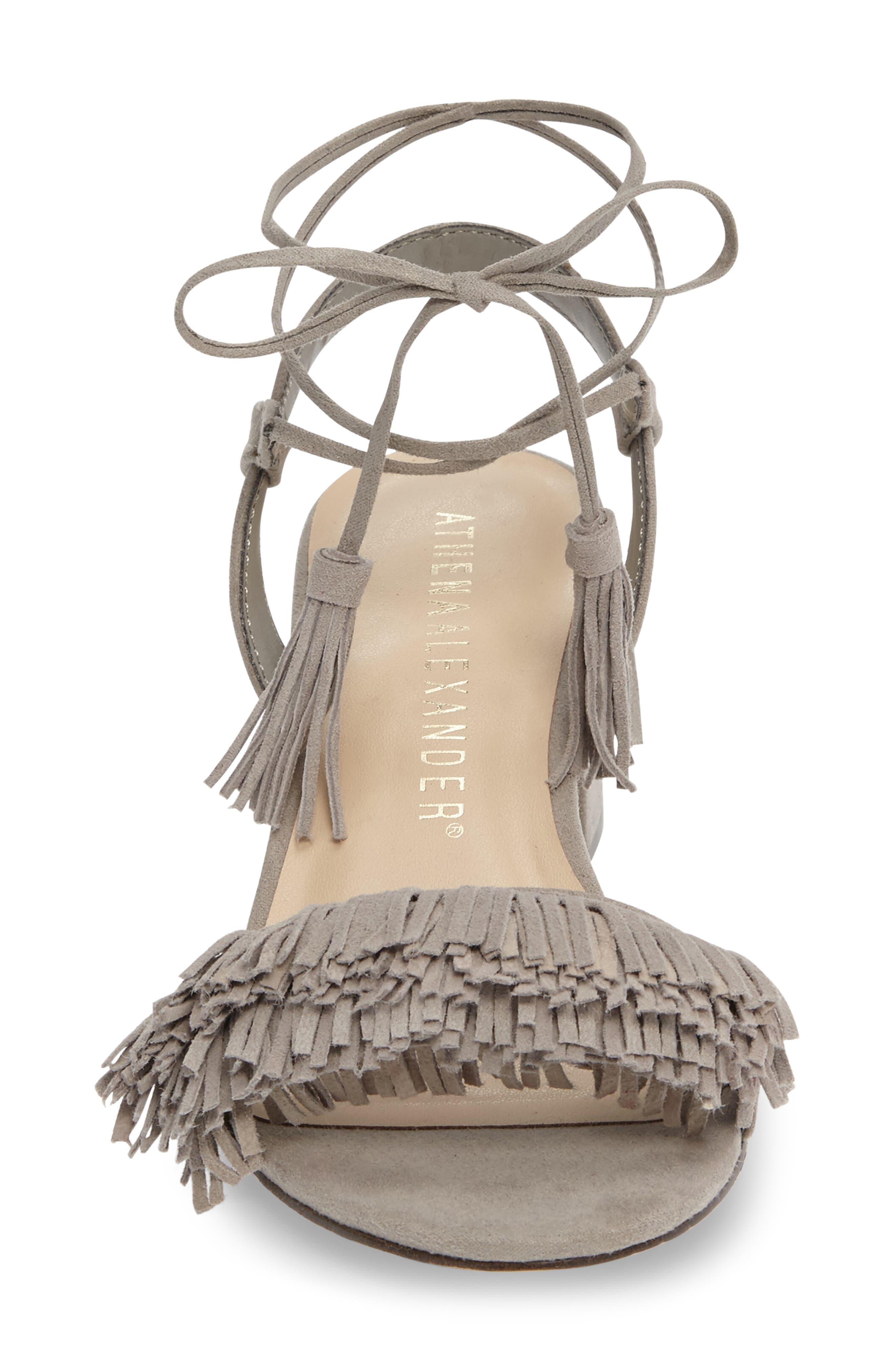Alternate Image 3  - Athena Alexander Fringed Ankle Wrap Sandal (Women)