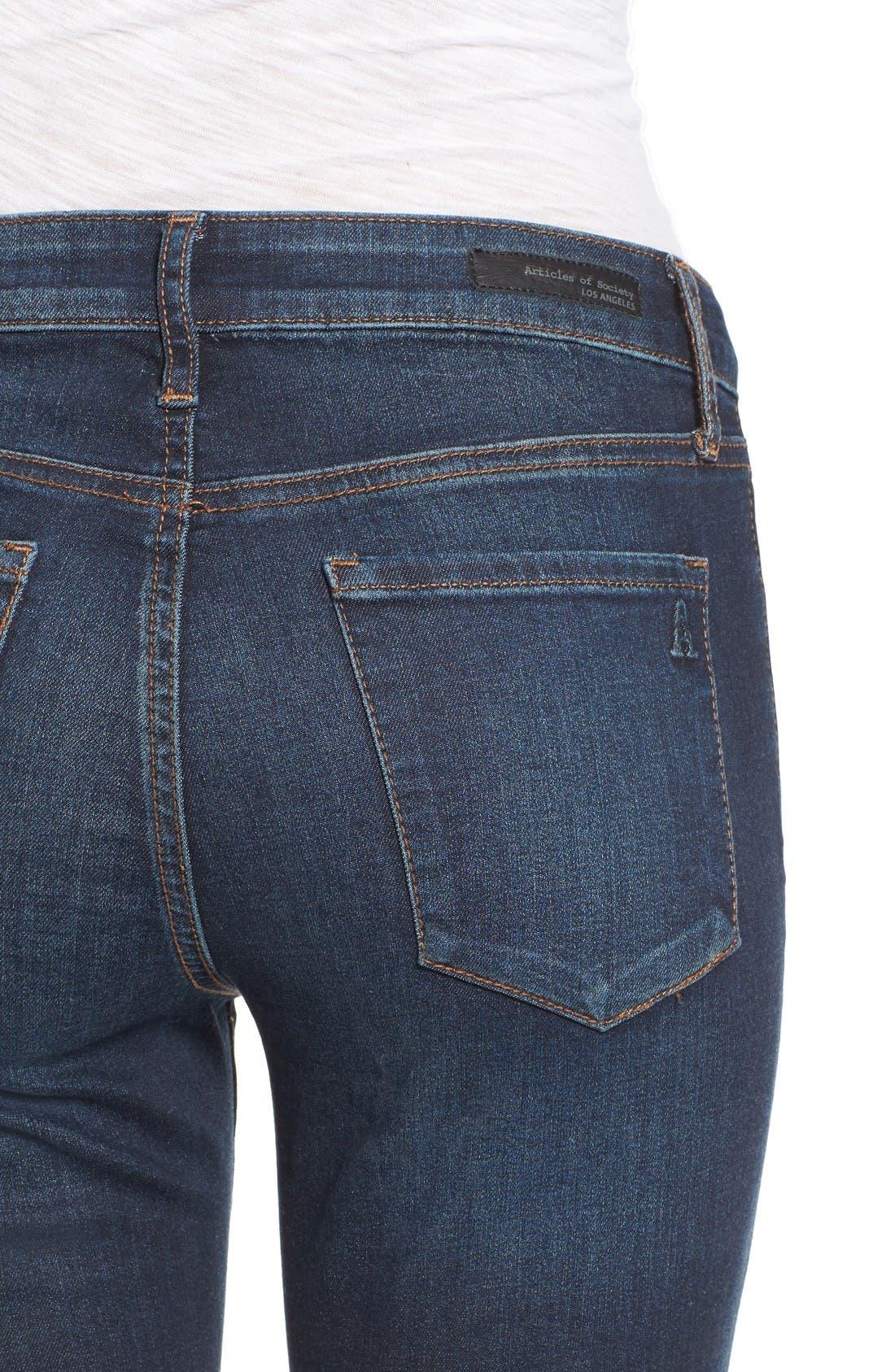 Alternate Image 4  - Articles of Society Mya Skinny Jeans (Waverly)