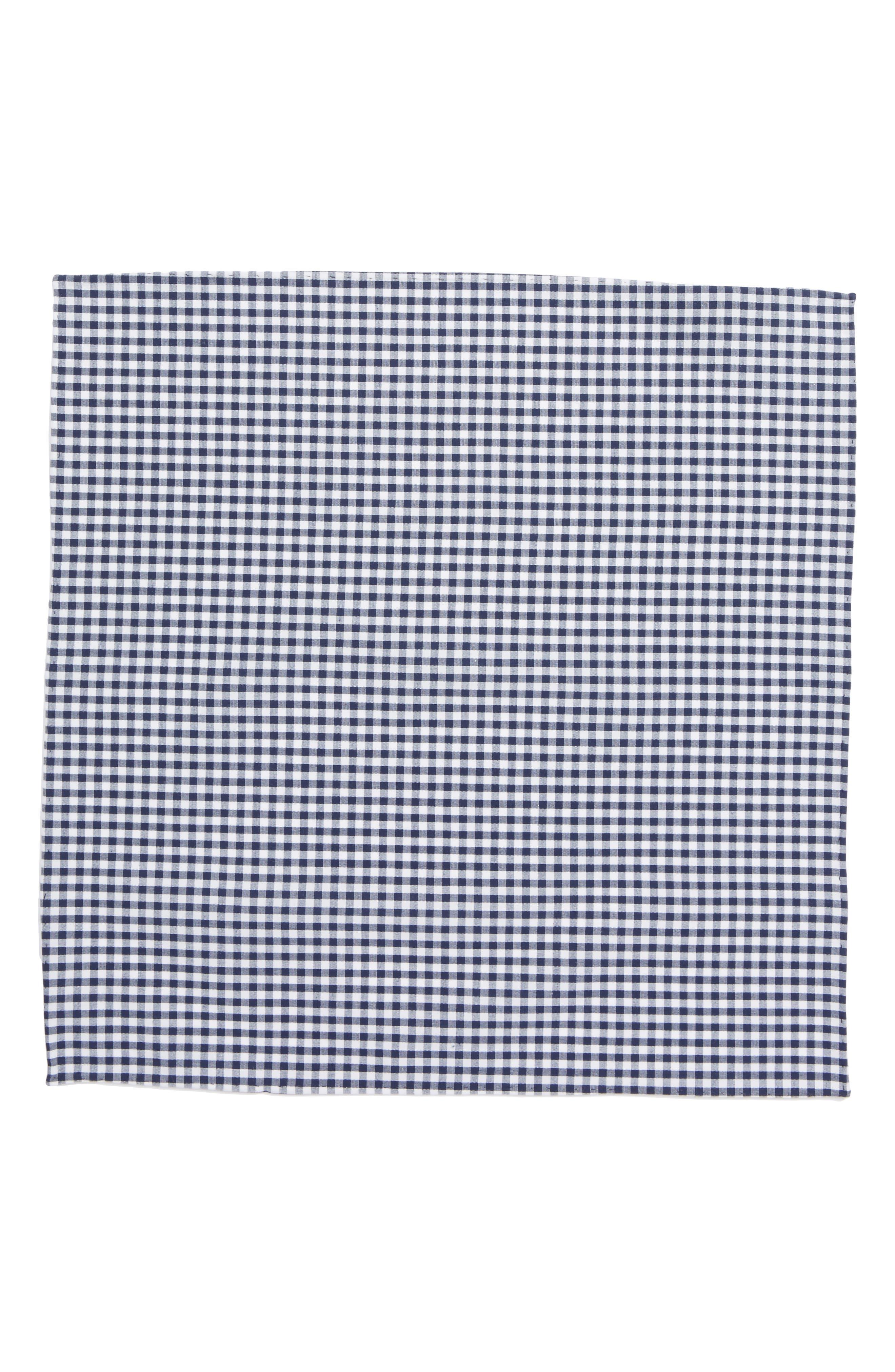 Alternate Image 2  - The Tie Bar Check Cotton Pocket Square