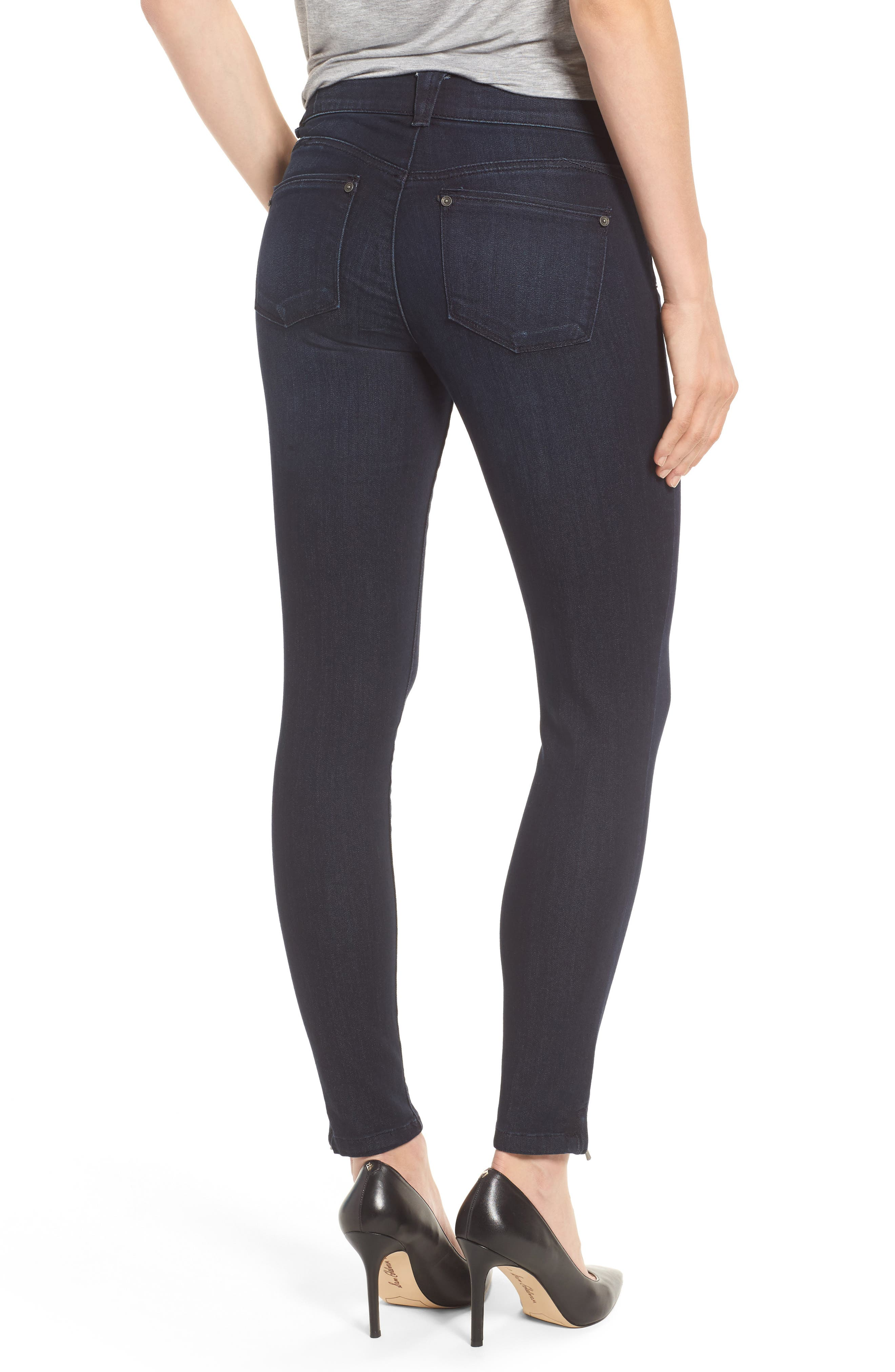 Ab-solution Ankle Zip Skinny Jeans,                             Alternate thumbnail 2, color,                             Indigo
