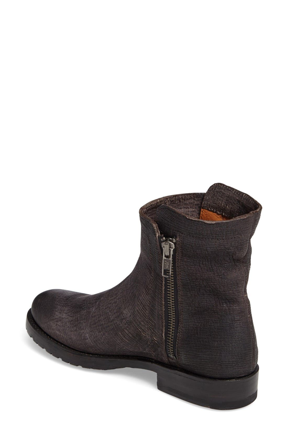 Alternate Image 2  - Frye Natalie Textured Double Zip Bootie (Women)