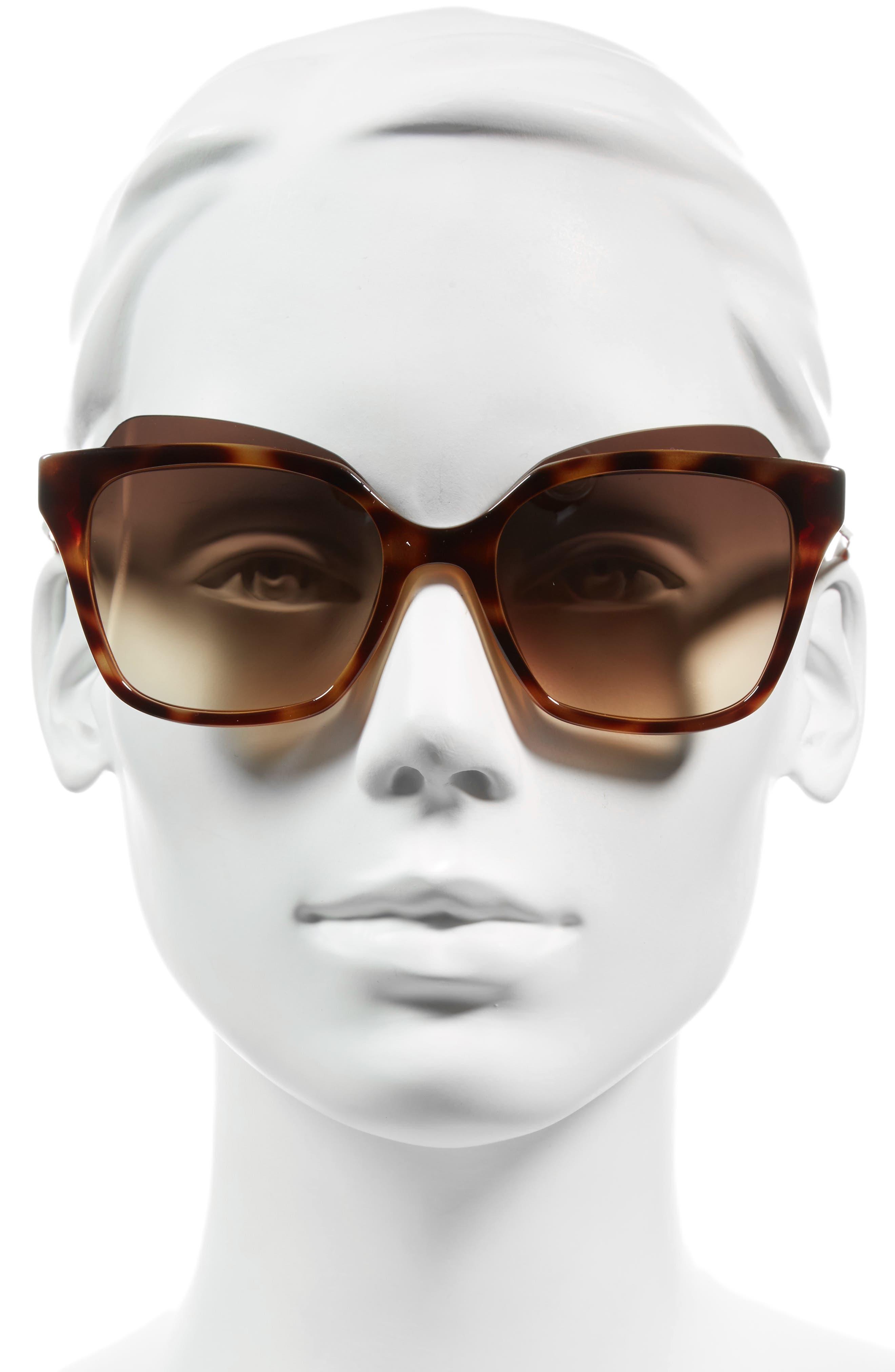 54mm Sunglasses,                             Alternate thumbnail 2, color,                             Havana