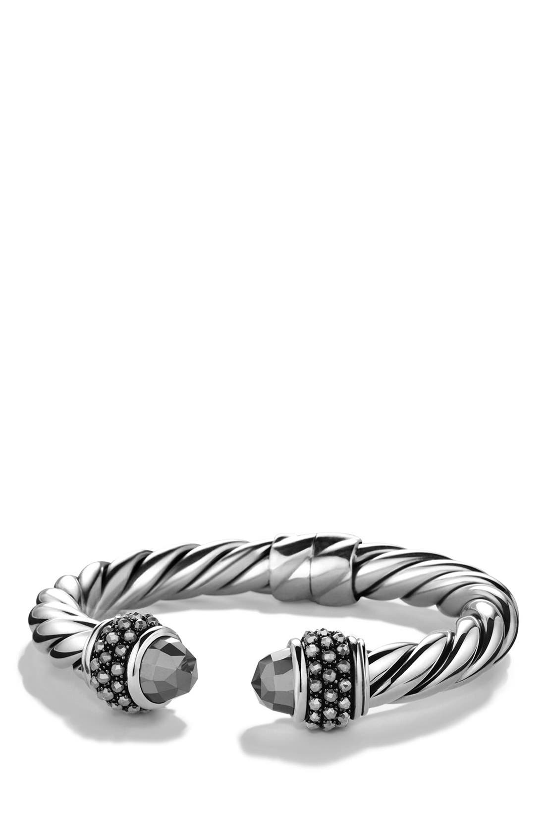 Bracelet with Semiprecious Stones, 10mm,                             Main thumbnail 1, color,                             Hematine