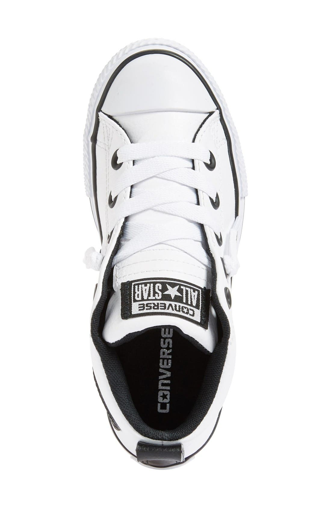 Chuck Taylor<sup>®</sup> All Star<sup>®</sup> Mid High Sneaker,                             Alternate thumbnail 3, color,                             White/ Black