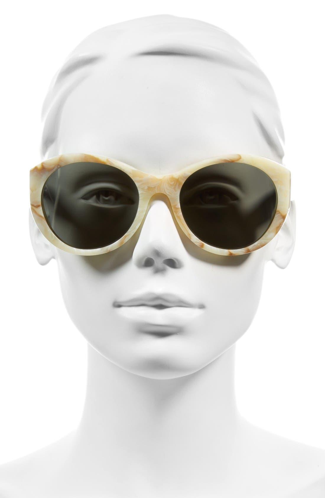 Alternate Image 2  - Victoria Beckham Fine Oval 59mm Sunglasses