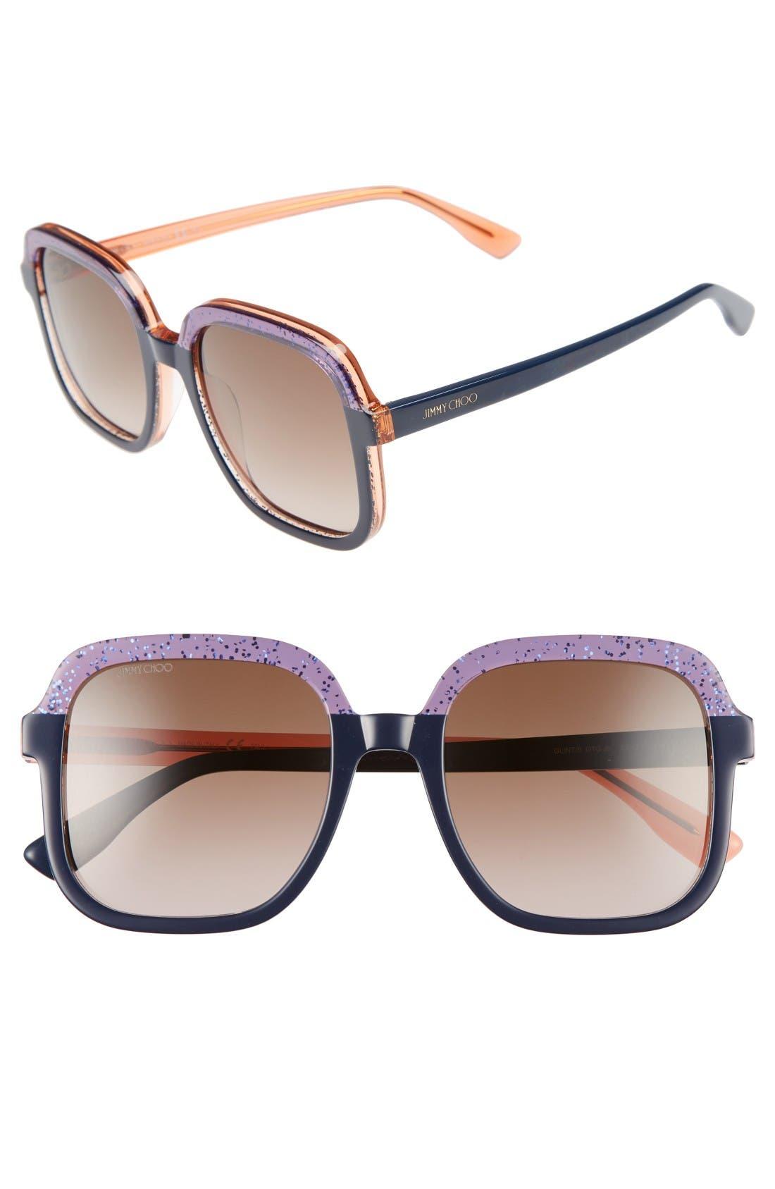 Jimmy Choo 53mm Glitter Frame Sunglasses