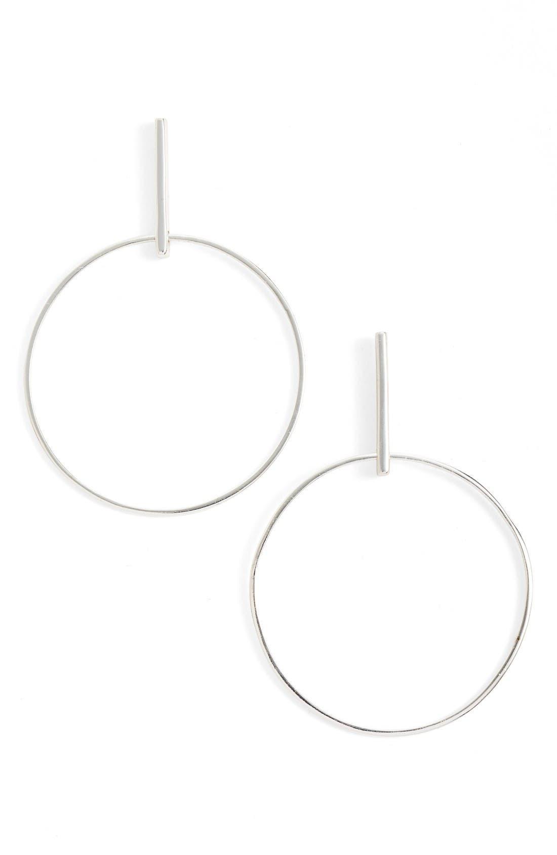 Argento Vivo Front Hoop Earrings