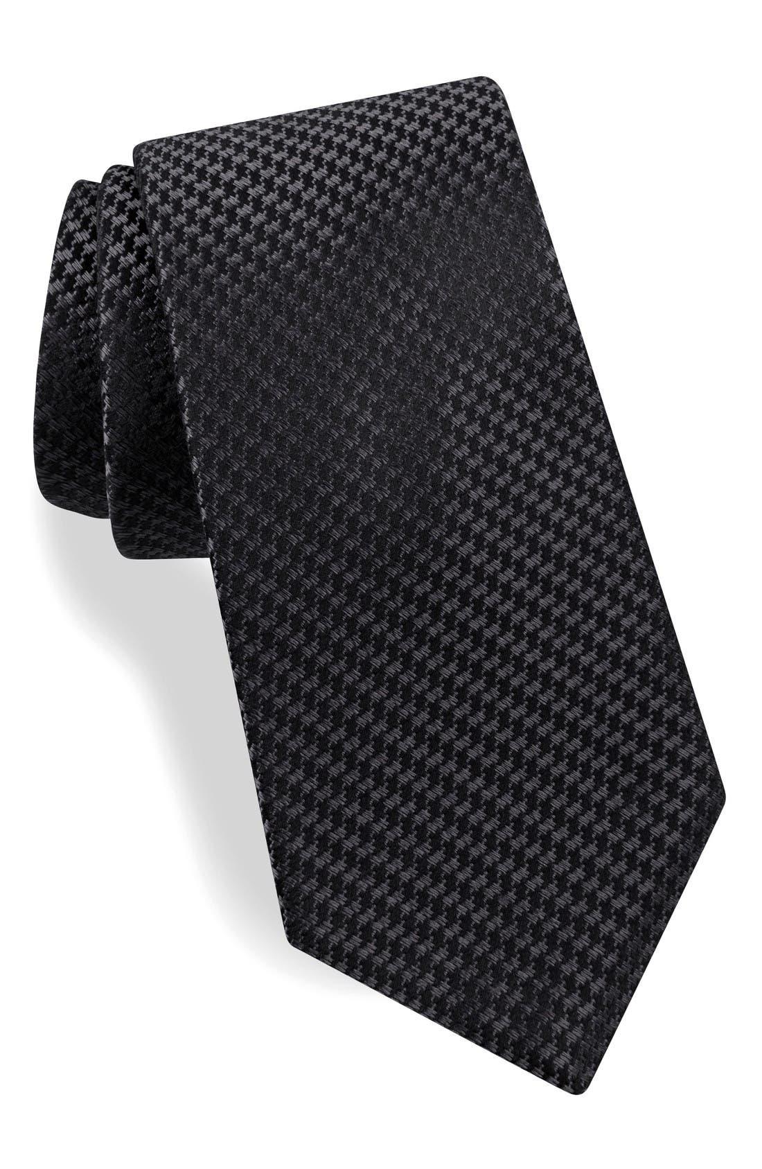 Geometric Silk Tie,                         Main,                         color, Grey