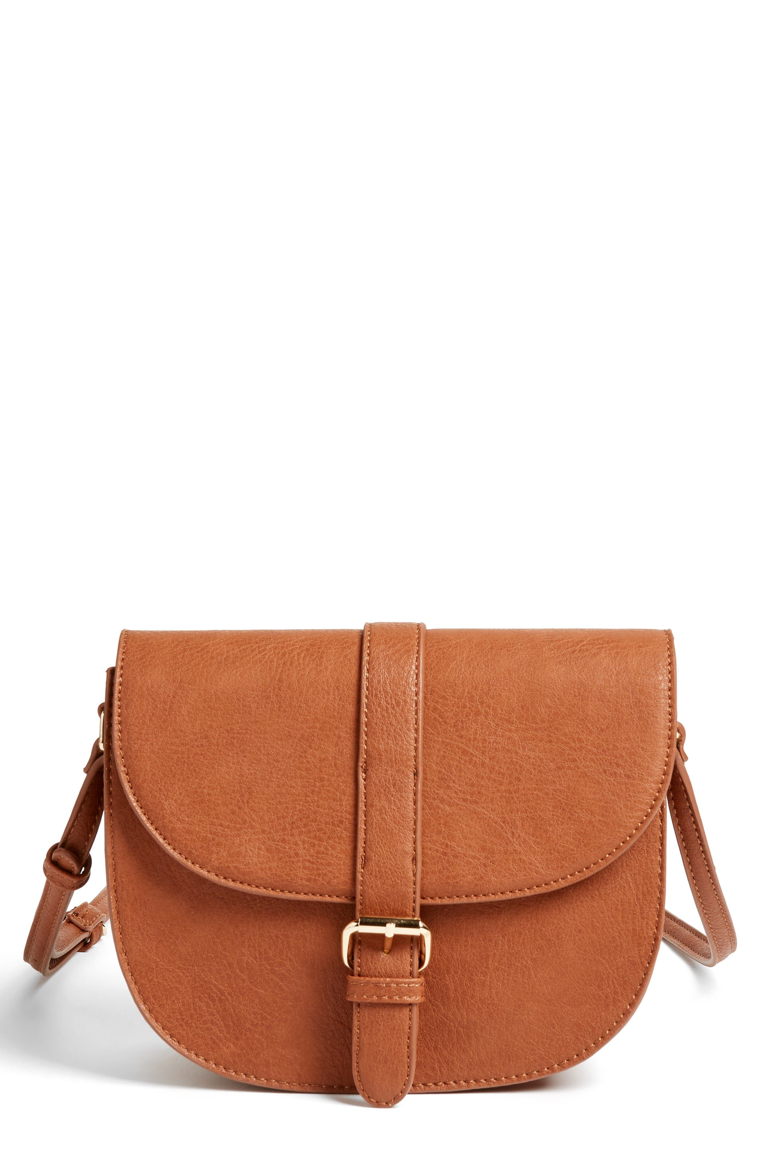 Main Image - Emperia Faux Leather Saddle Bag (Special Purchase)