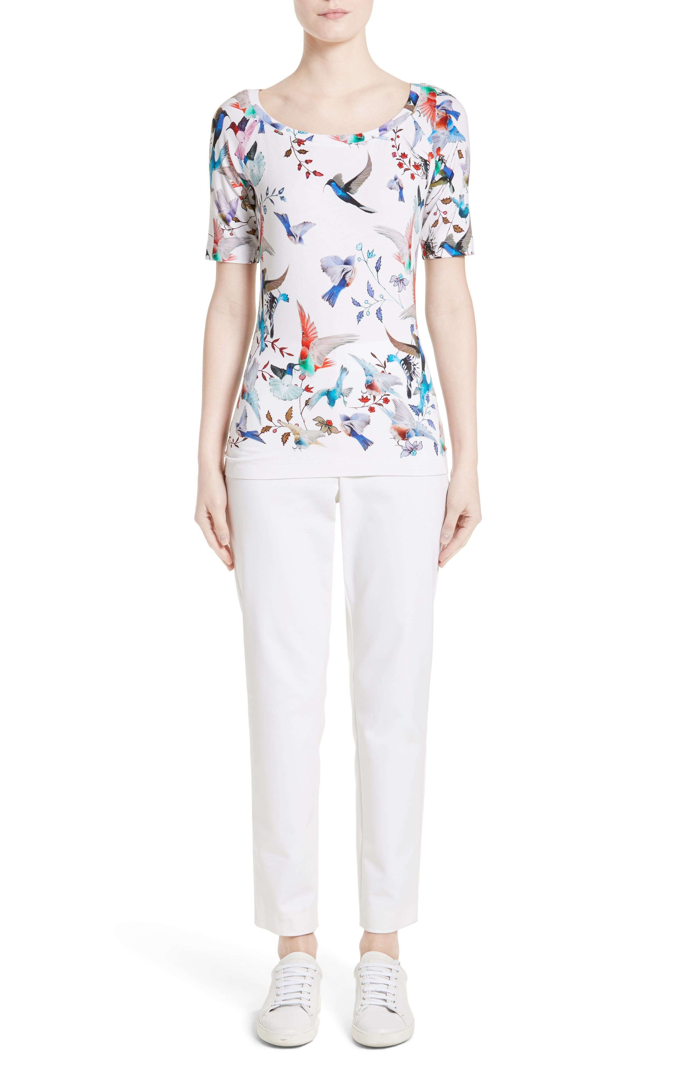 St. John Collection Tee & Pants Outfit with Accessories