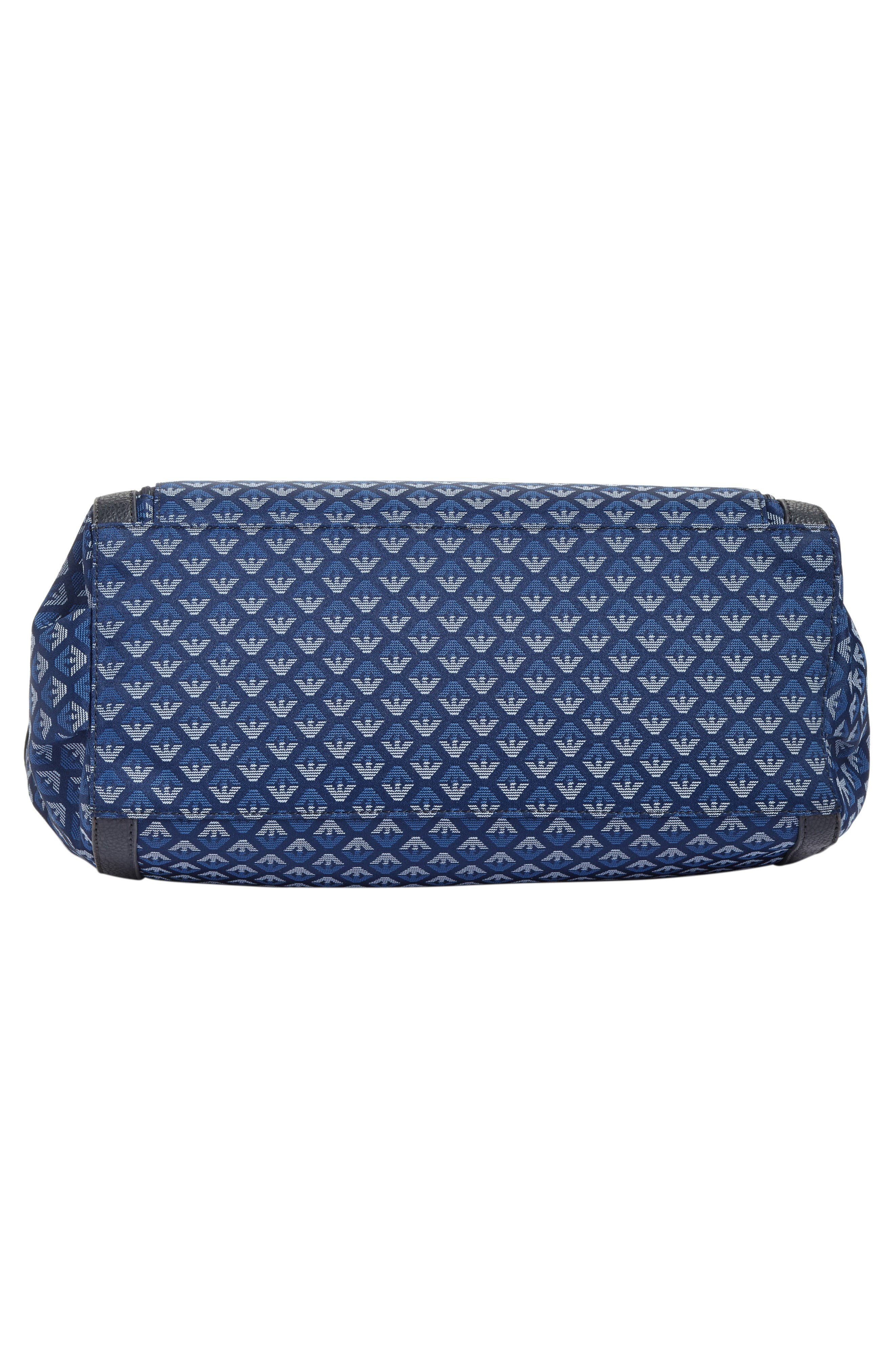 Logo Nylon Diaper Bag,                             Alternate thumbnail 6, color,                             Navy