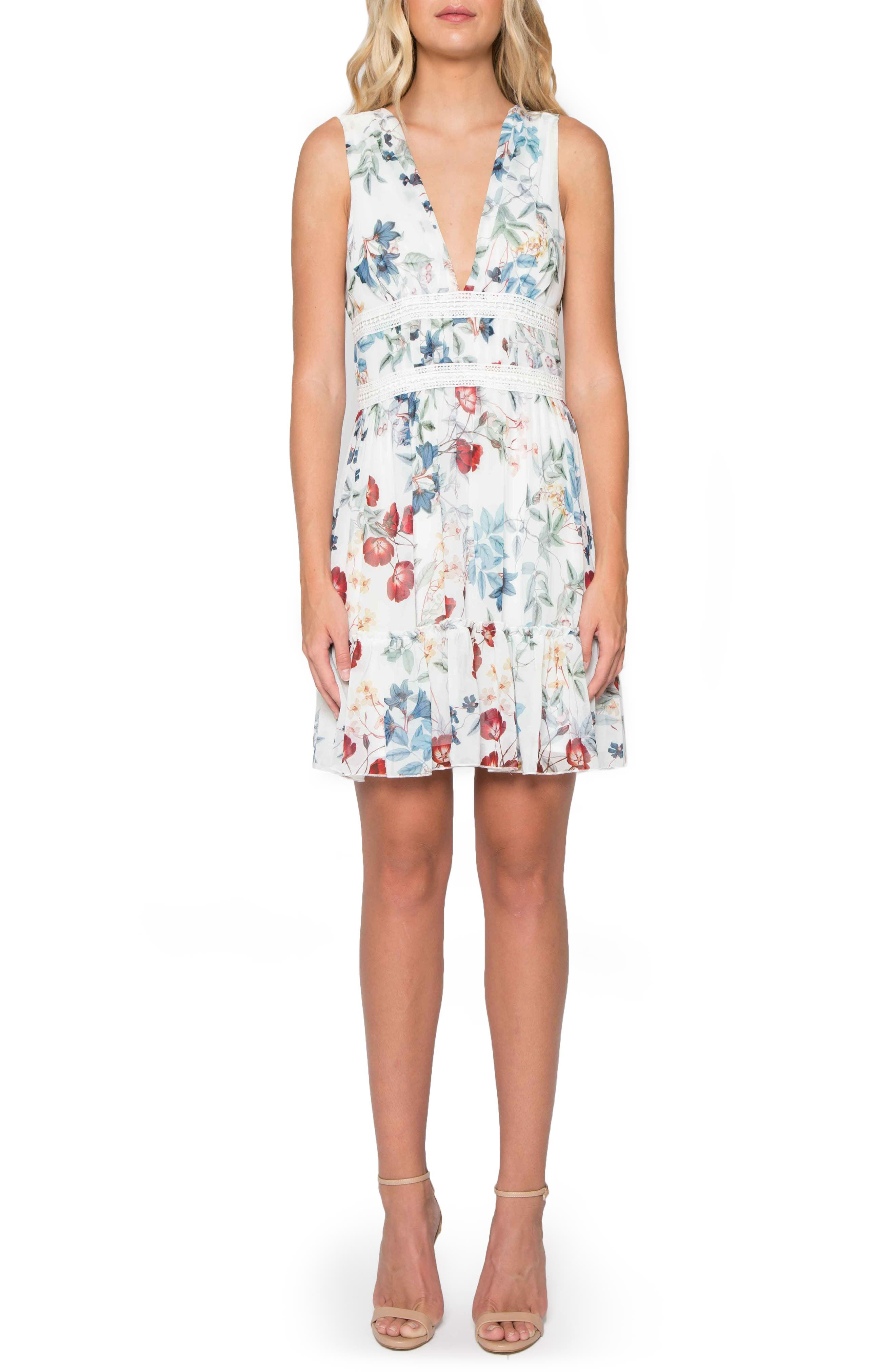 Willow & Clay Floral V-Neck Dress