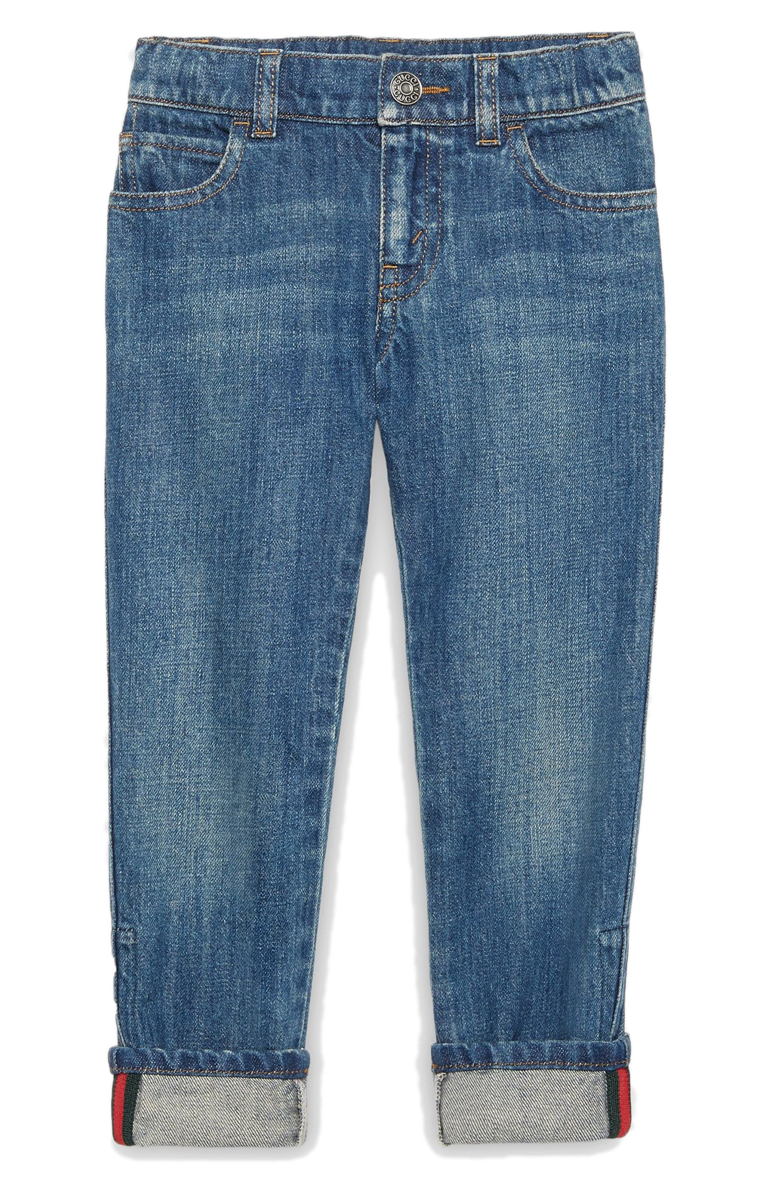 Alternate Image 1 Selected - Gucci Straight Leg Jeans (Little Boys & Big Boys)