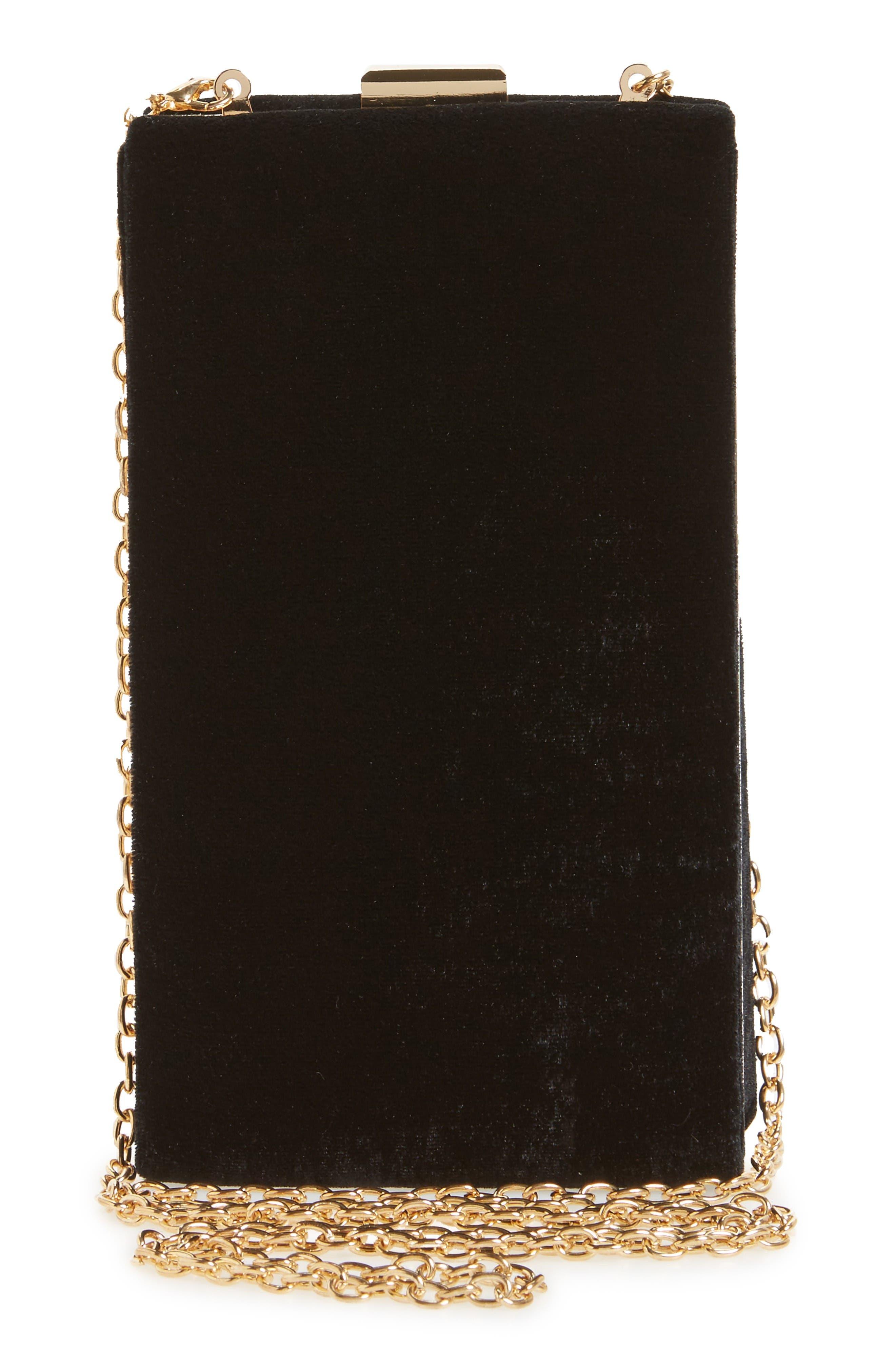 Alternate Image 3  - Leith Velvet Box Clutch