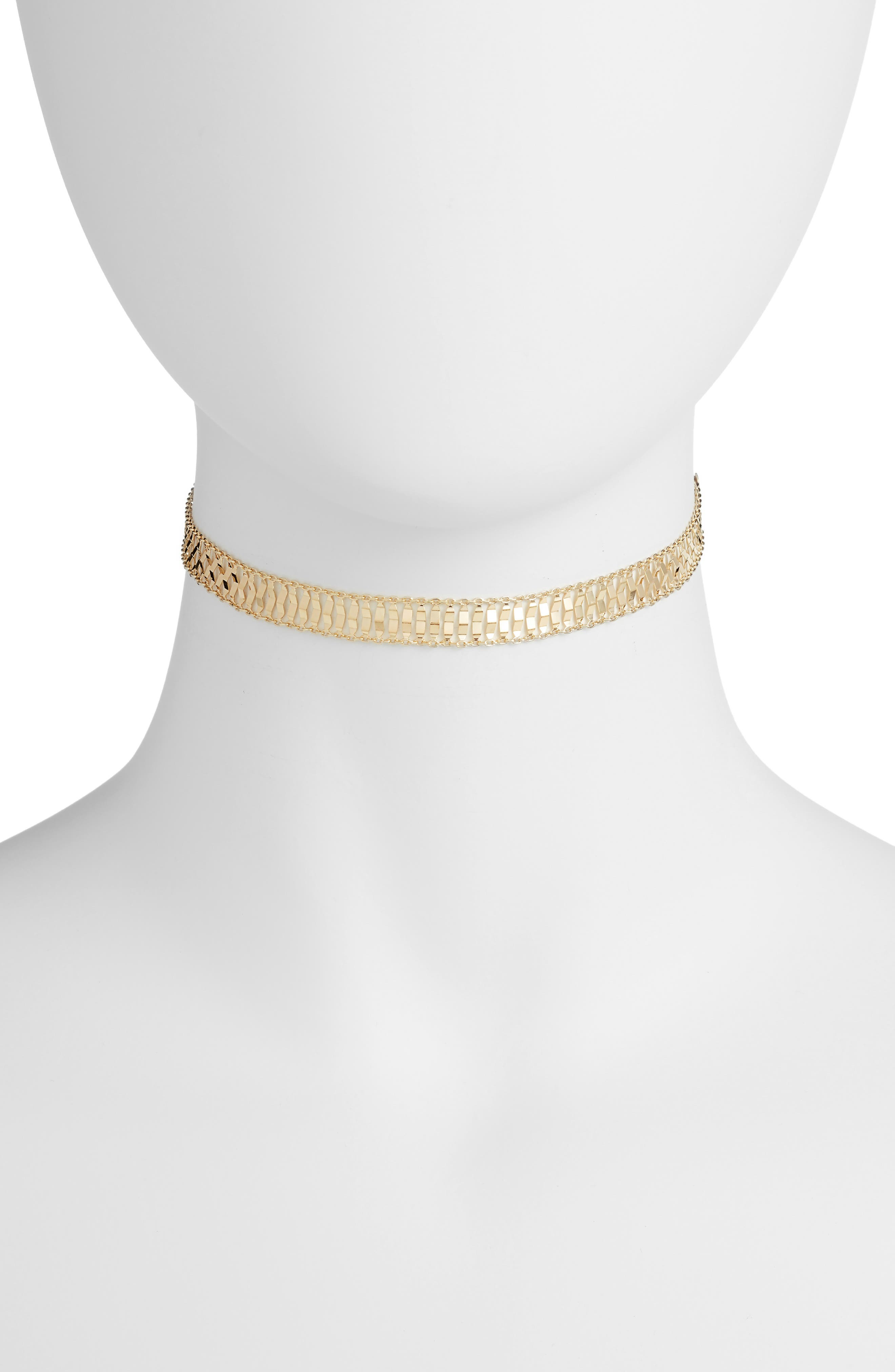 Wide Choker,                         Main,                         color, Gold