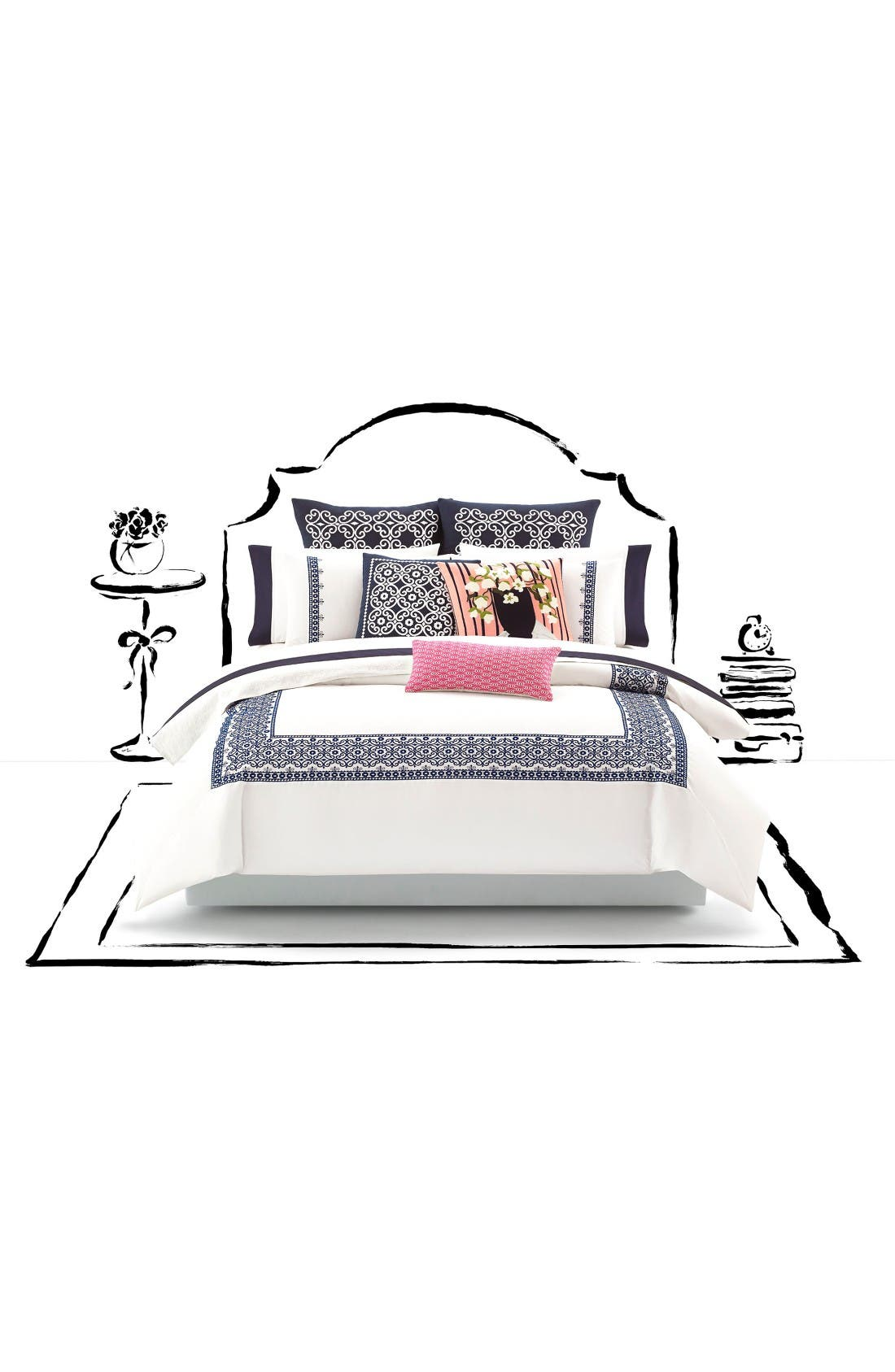 Alternate Image 1 Selected - kate spade new york folk art duvet