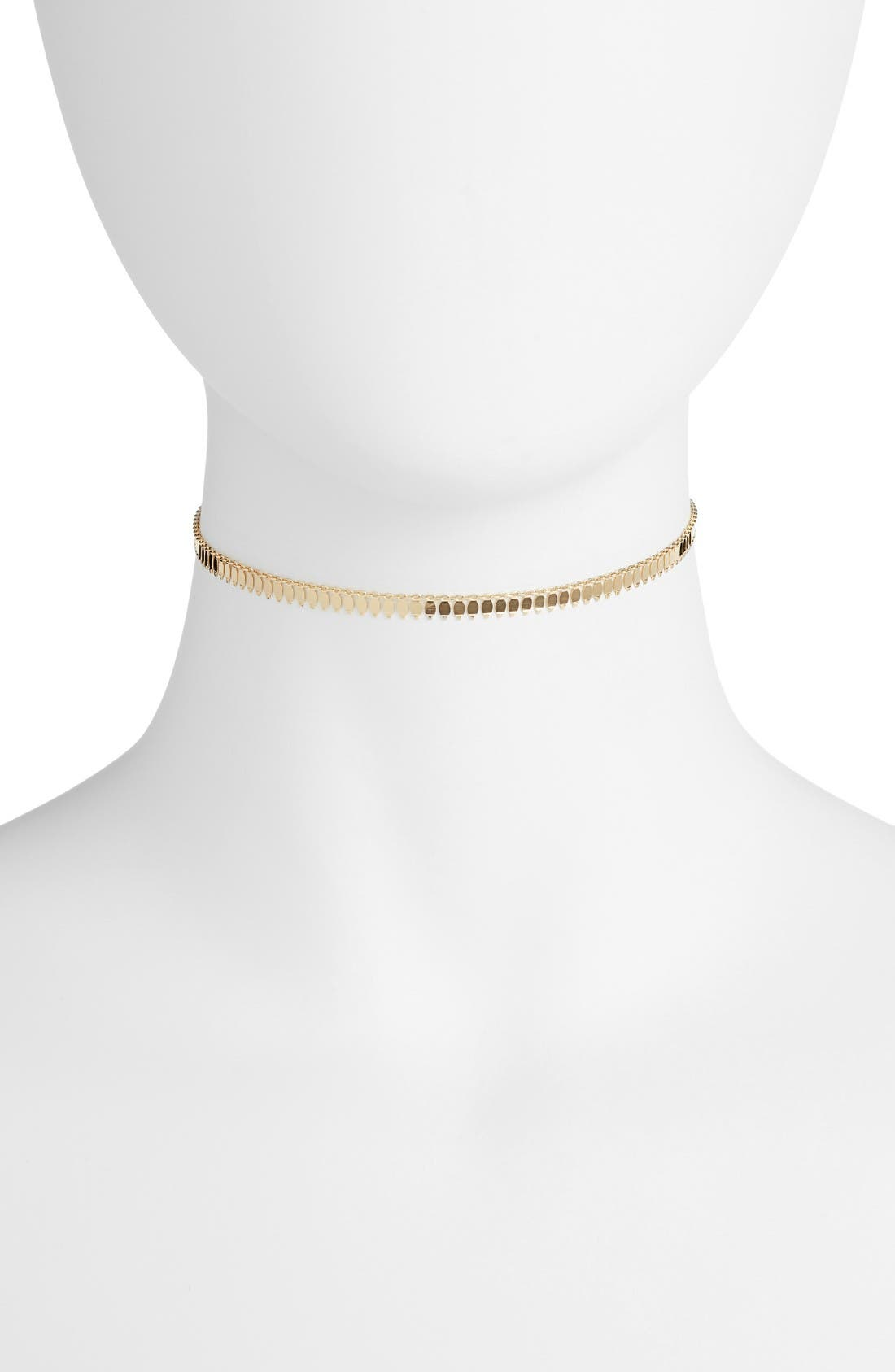 Fringe Choker,                         Main,                         color, Gold