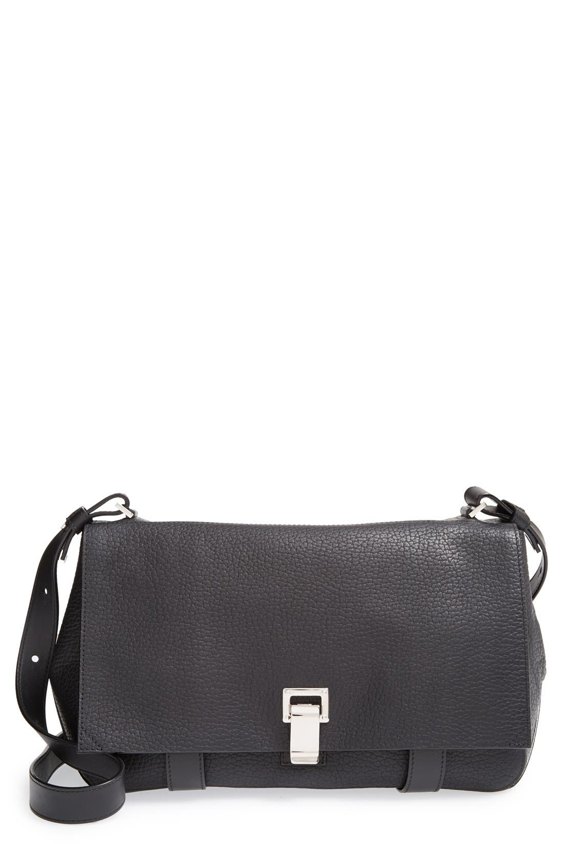 Alternate Image 1 Selected - Proenza Schouler 'Courier' Pebbled Leather Crossbody Bag
