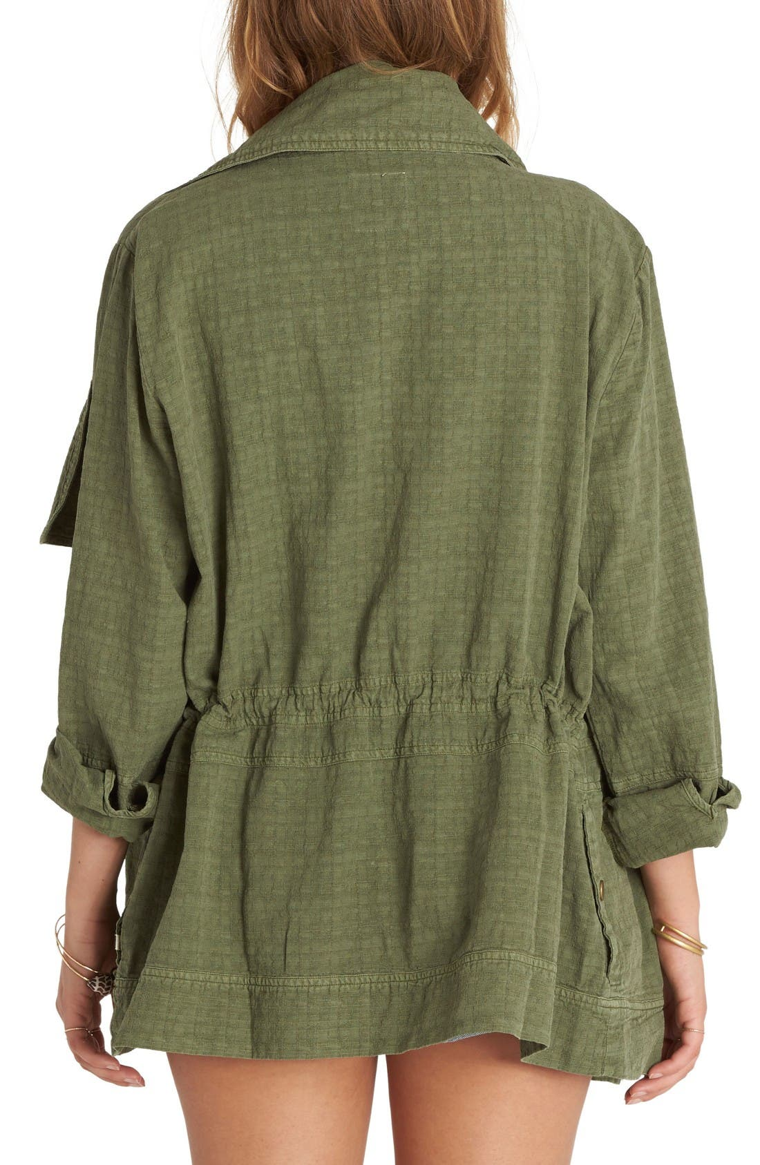 Alternate Image 2  - Billabong Lost Then Found Draped Utility Jacket