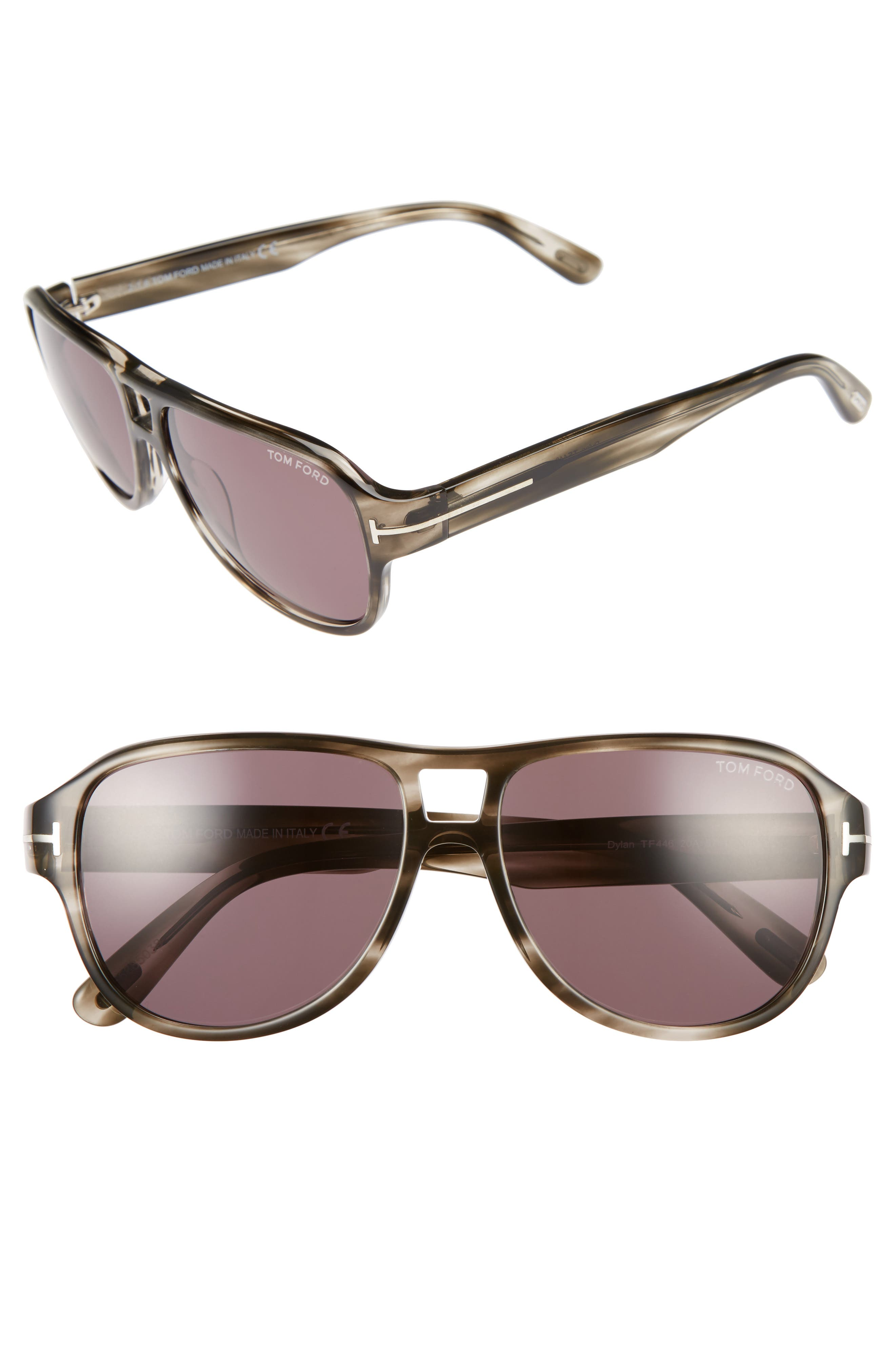 TOM FORD Dylan 57mm Sunglasses