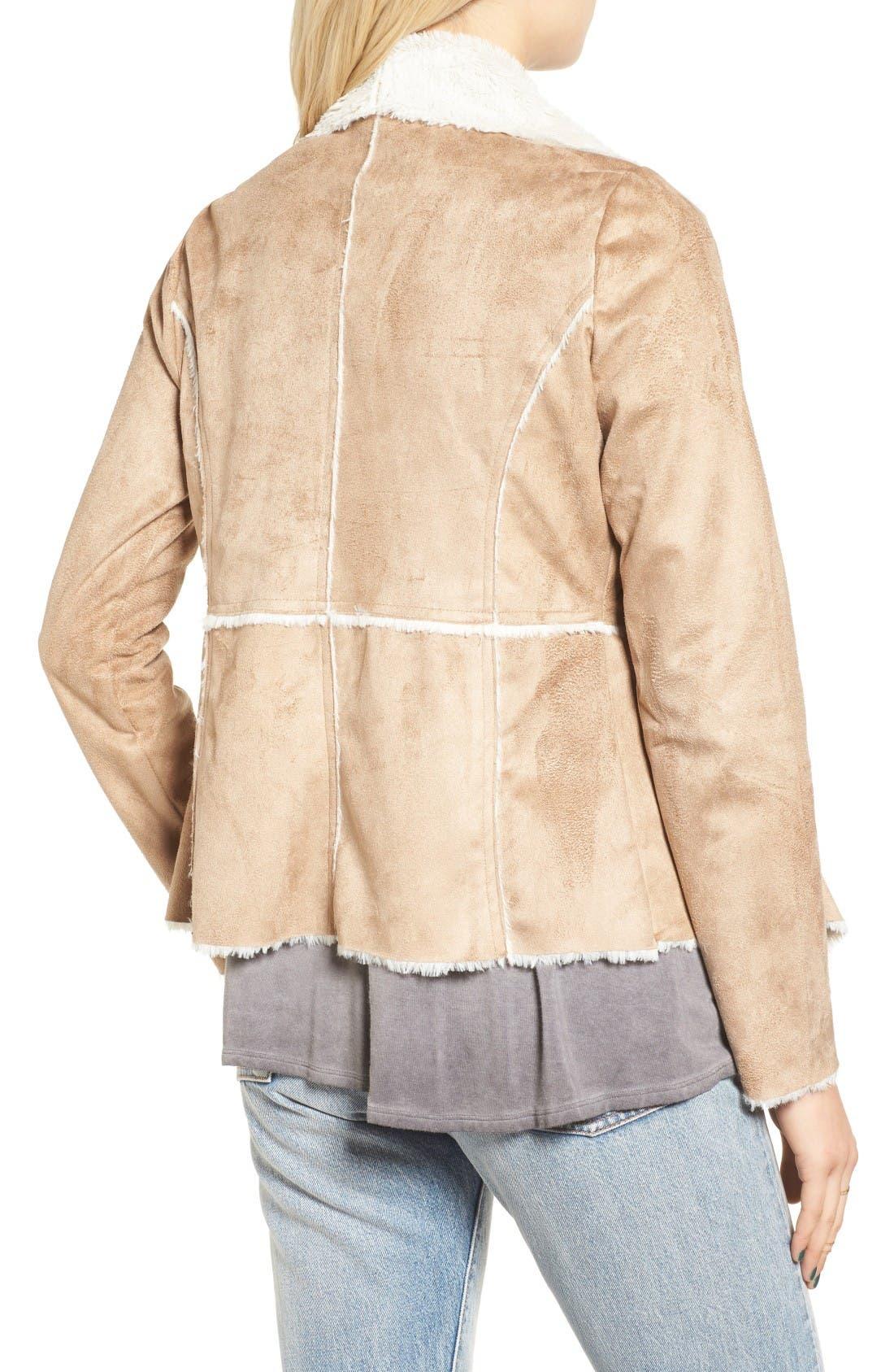 Alternate Image 2  - Soprano Faux Shearling Moto Jacket