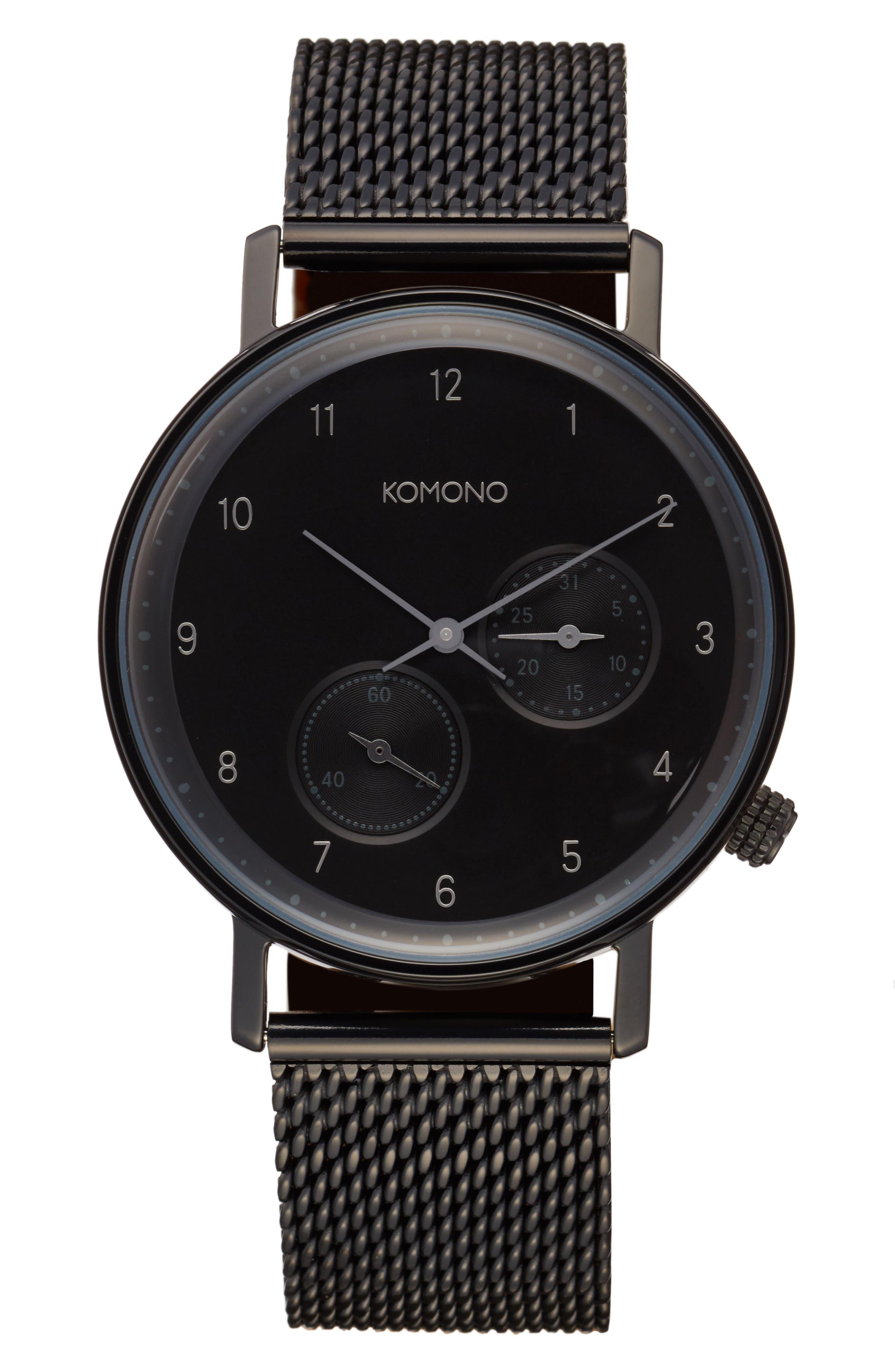 Main Image - Komono Walther Chronograph Mesh Strap Watch, 40mm
