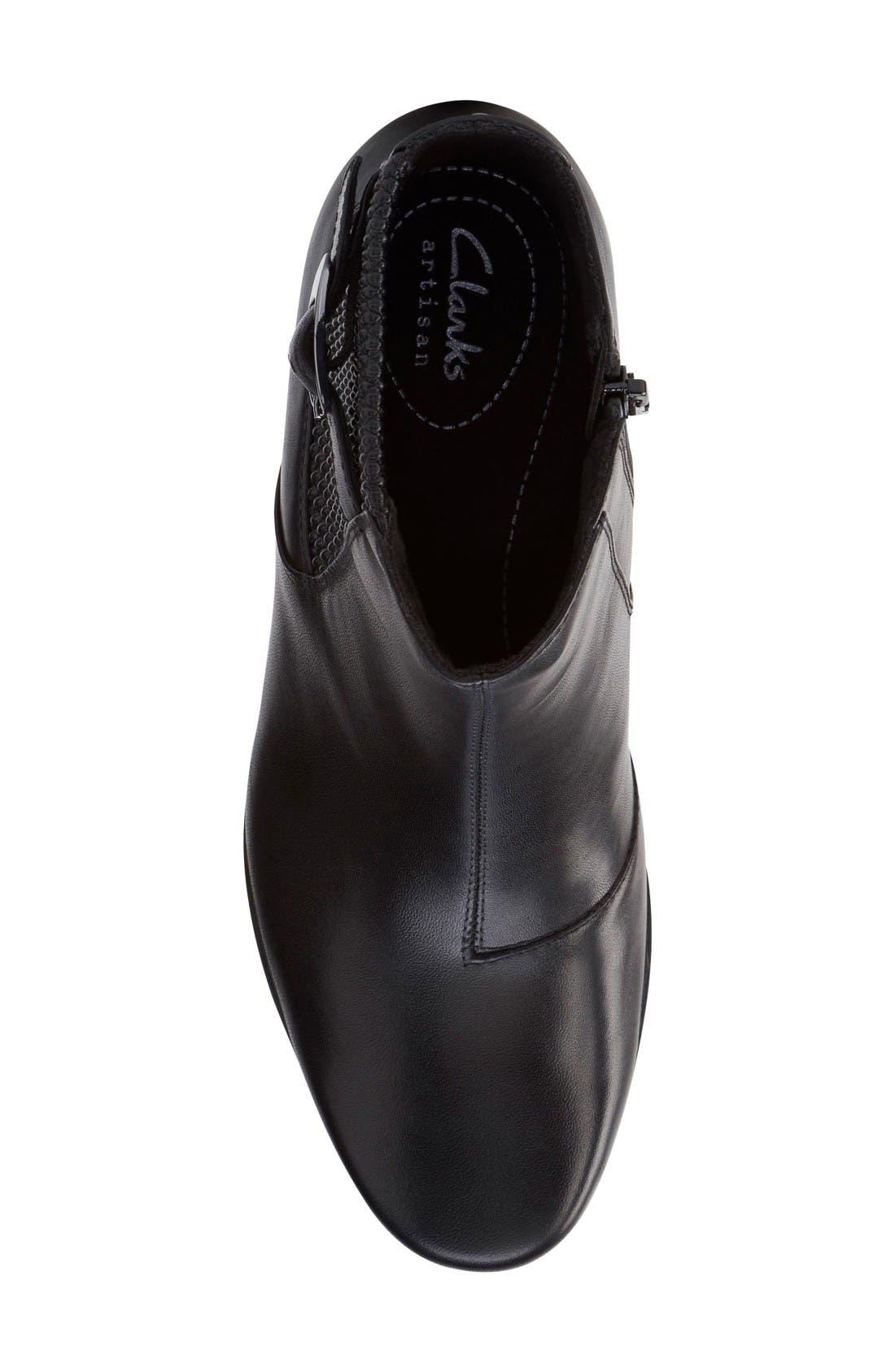Rosalyn Lara Waterproof Boot,                             Alternate thumbnail 4, color,                             Black Leather