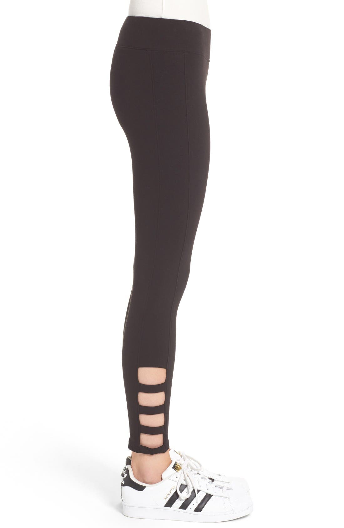 Alternate Image 3  - Hue Cutout Ankle Leggings