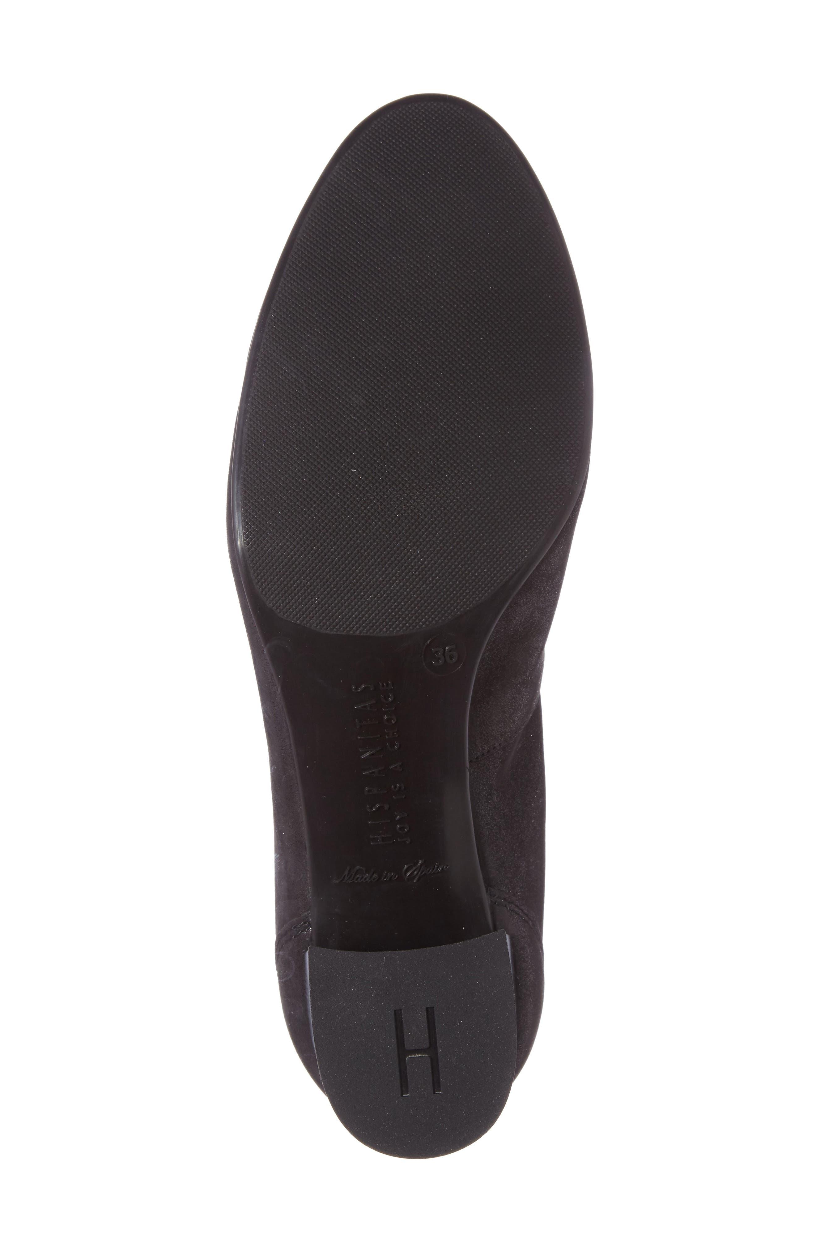 Jayla Brooch Toe Pump,                             Alternate thumbnail 4, color,                             Magic Black Leather