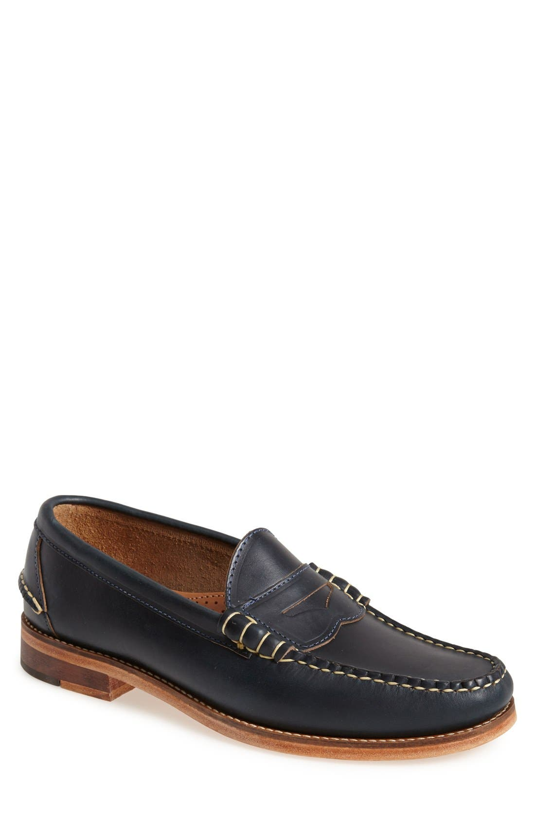 Beefroll Penny Loafer,                             Main thumbnail 1, color,                             Navy