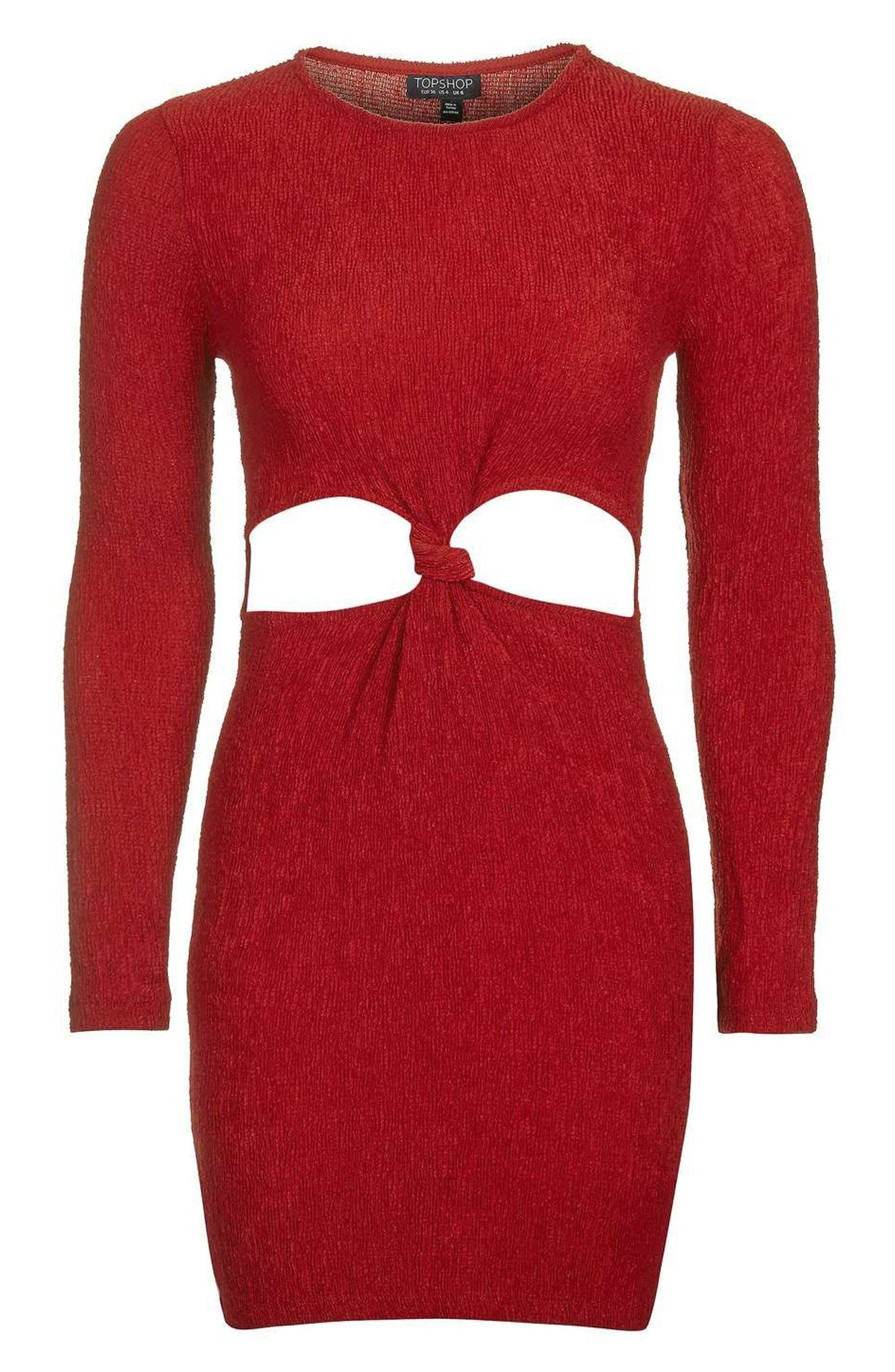 Alternate Image 4  - Topshop Knot Cutout Minidress