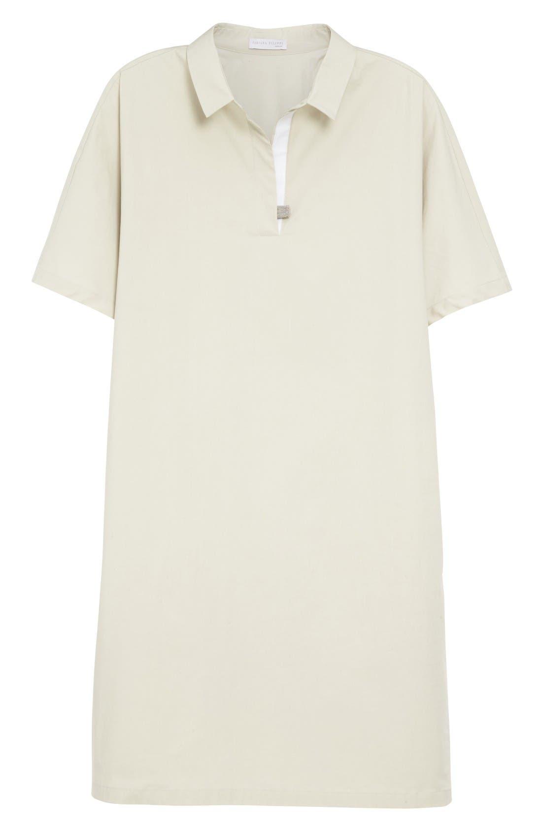 Alternate Image 4  - Fabiana Filippi Grosgrain Trim Shirtdress