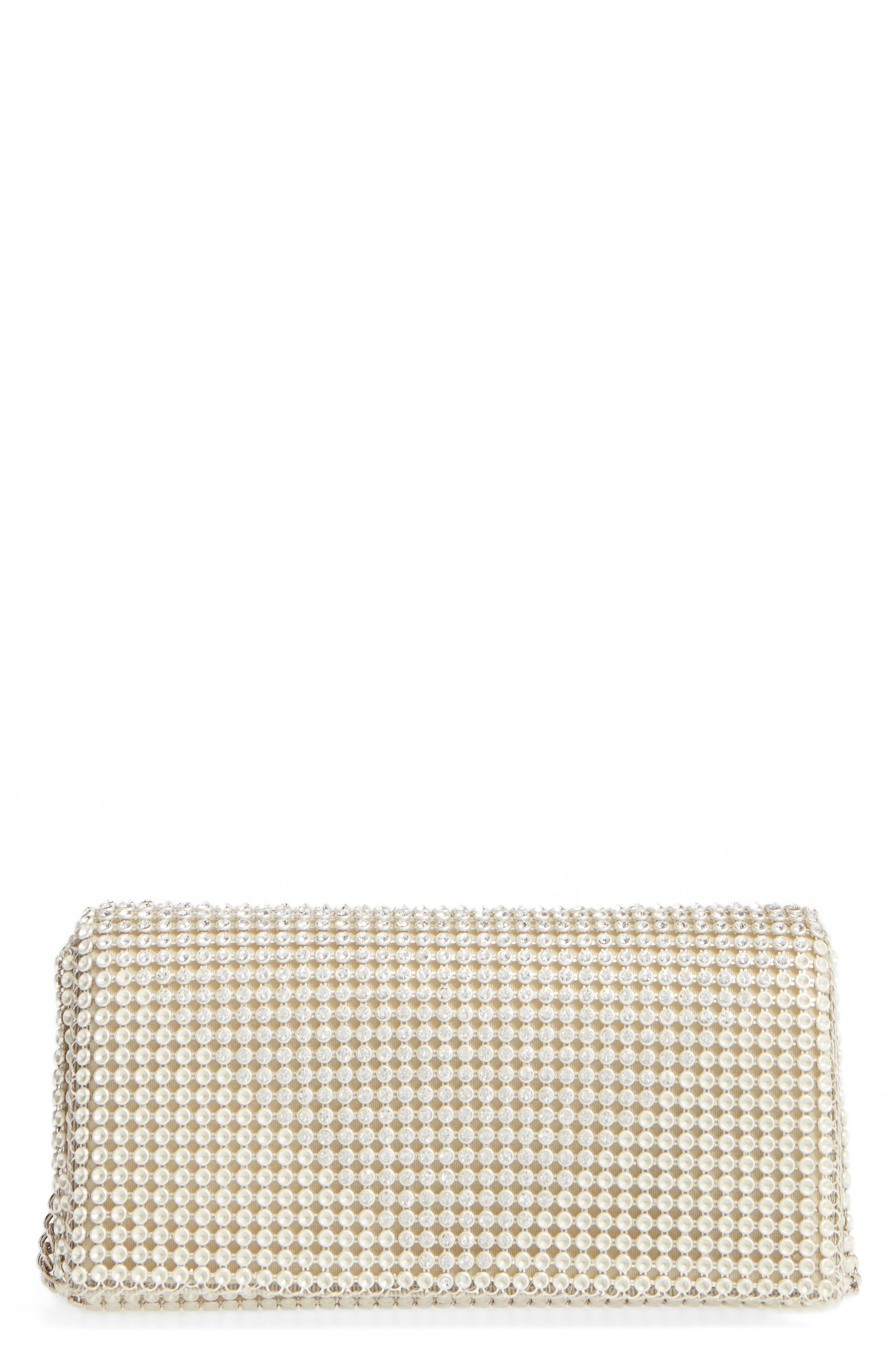 Crystal Triangle Clutch,                         Main,                         color, Pearl