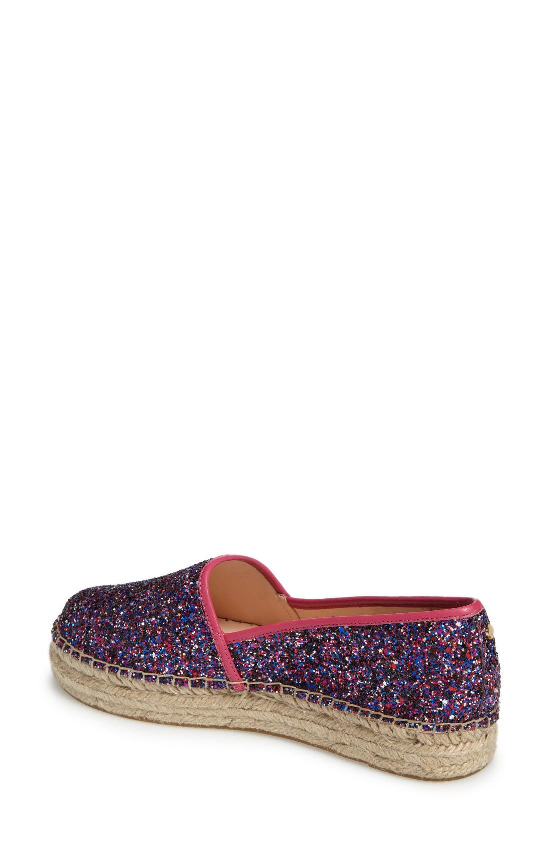 'linds' bow espadrille,                             Alternate thumbnail 2, color,                             Purple Glitter