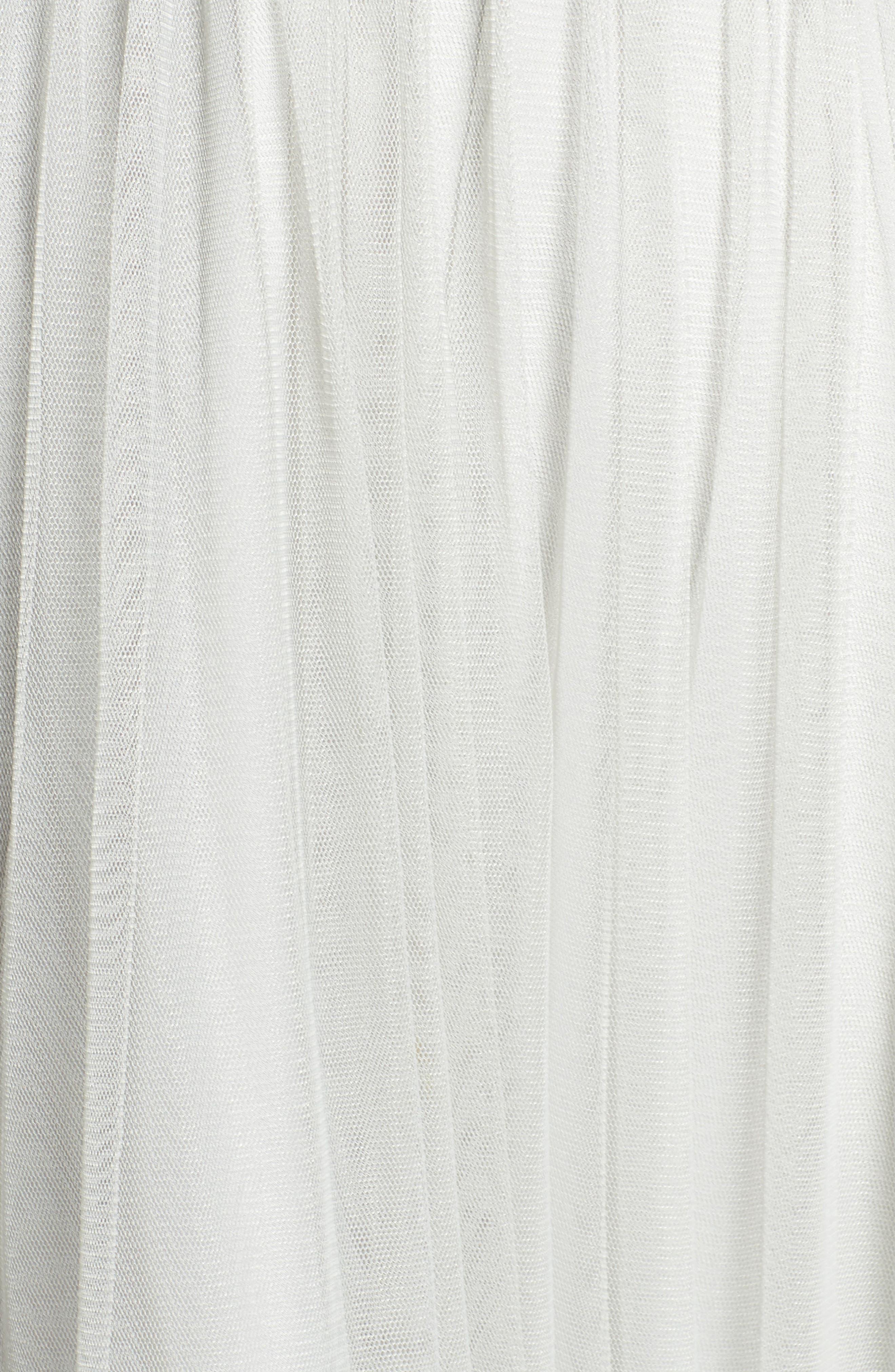 Halter Tulle A-Line Gown,                             Alternate thumbnail 5, color,                             Eucalyptus