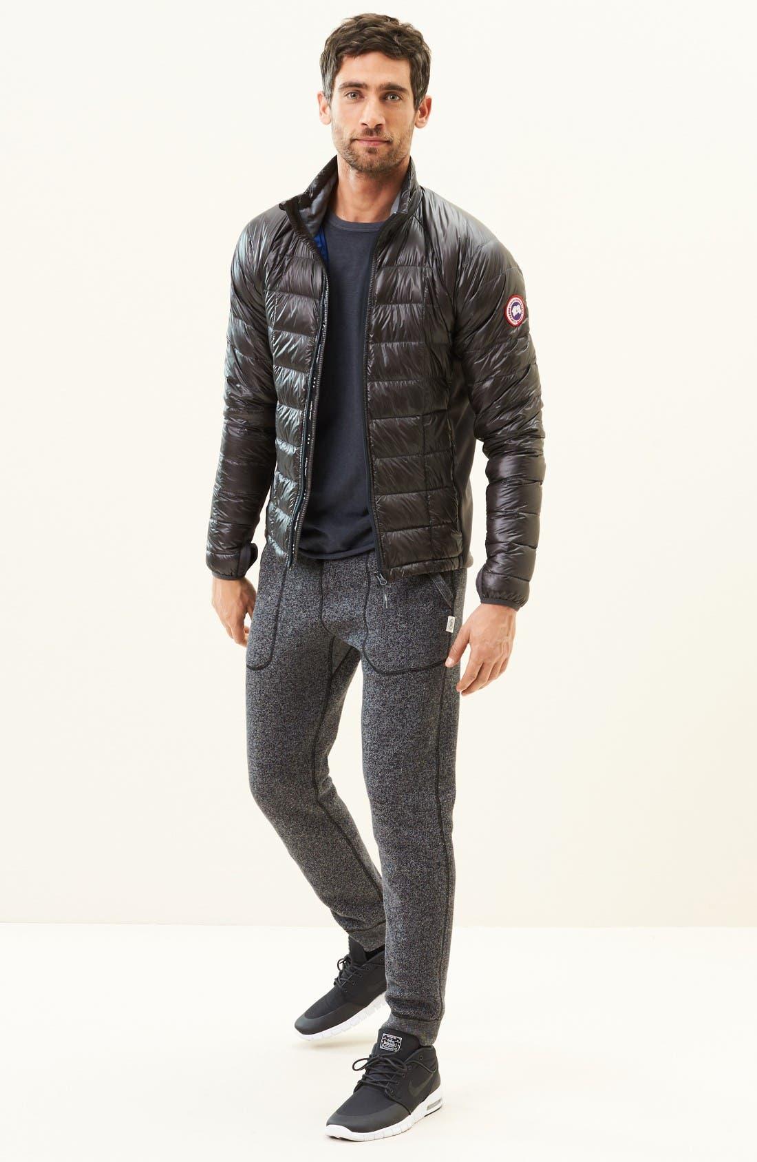 'Hybridge<sup>™</sup> Lite' Slim Fit Packable Jacket,                             Alternate thumbnail 7, color,                             Graphite/ Pacific Blue